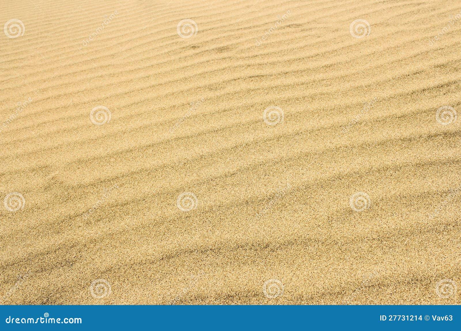 Die Oberfläche der sandigen Wüste