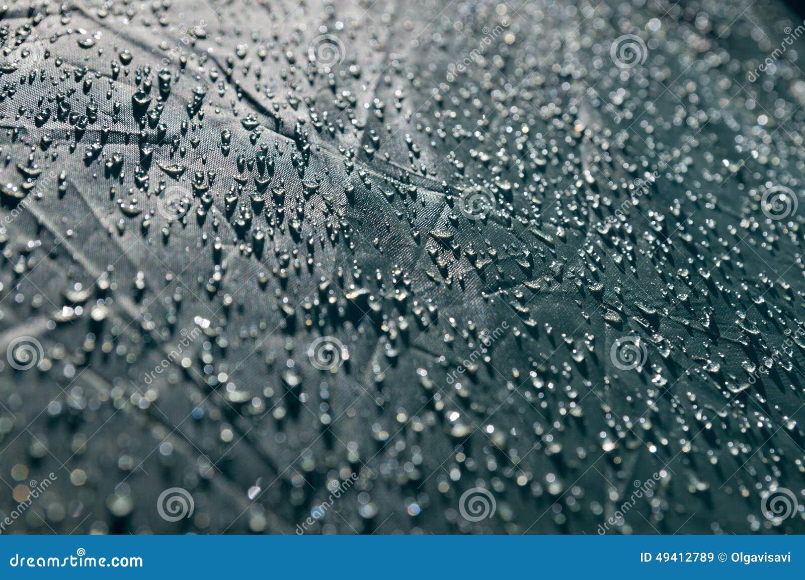 Download Die Oberfläche Des Gewebezeltes Mit Tautropfen Stockbild - Bild von chemiefasergewebe, abwehrmittel: 49412789