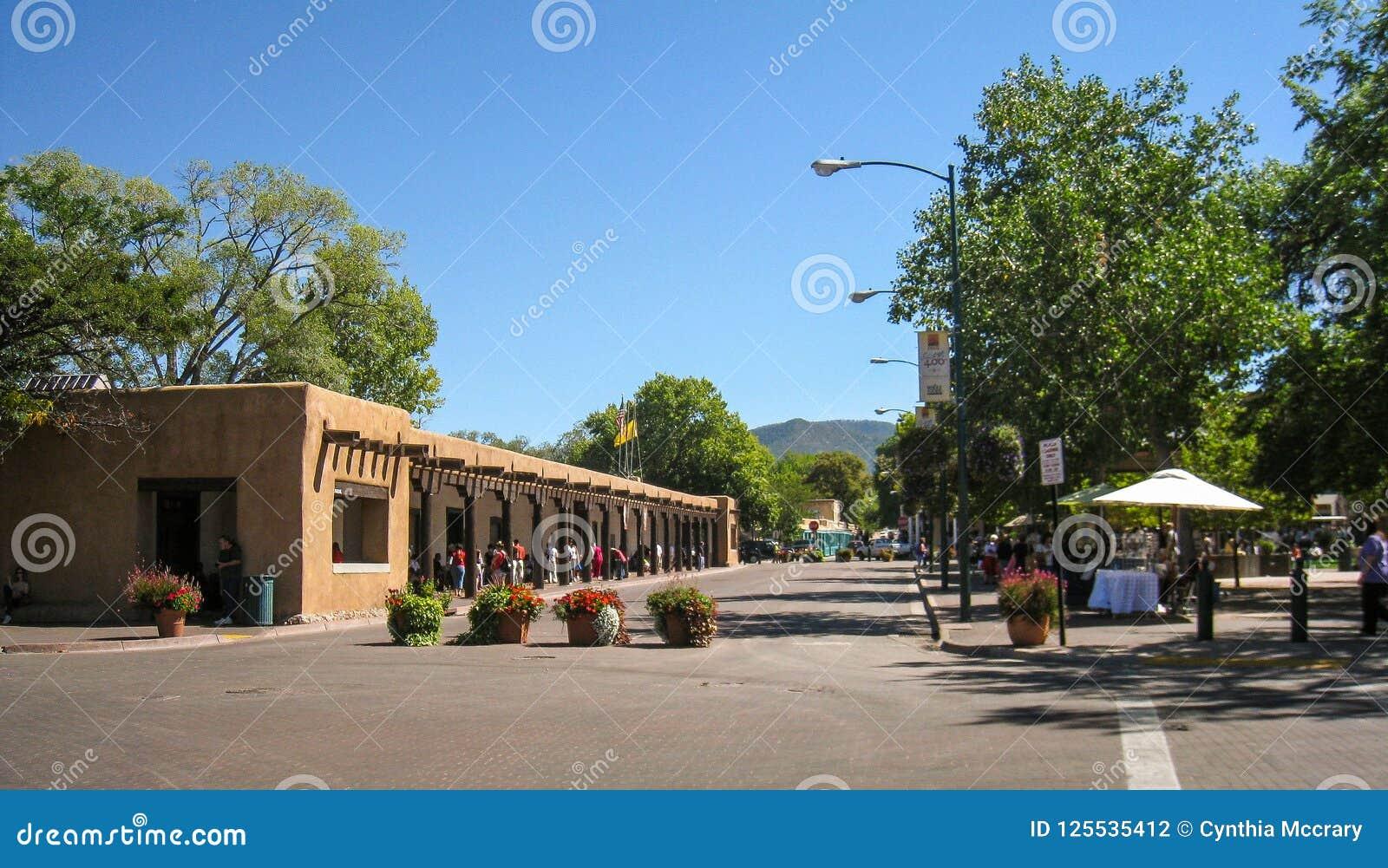 Die Piazza in Santa Fe, New Mexiko