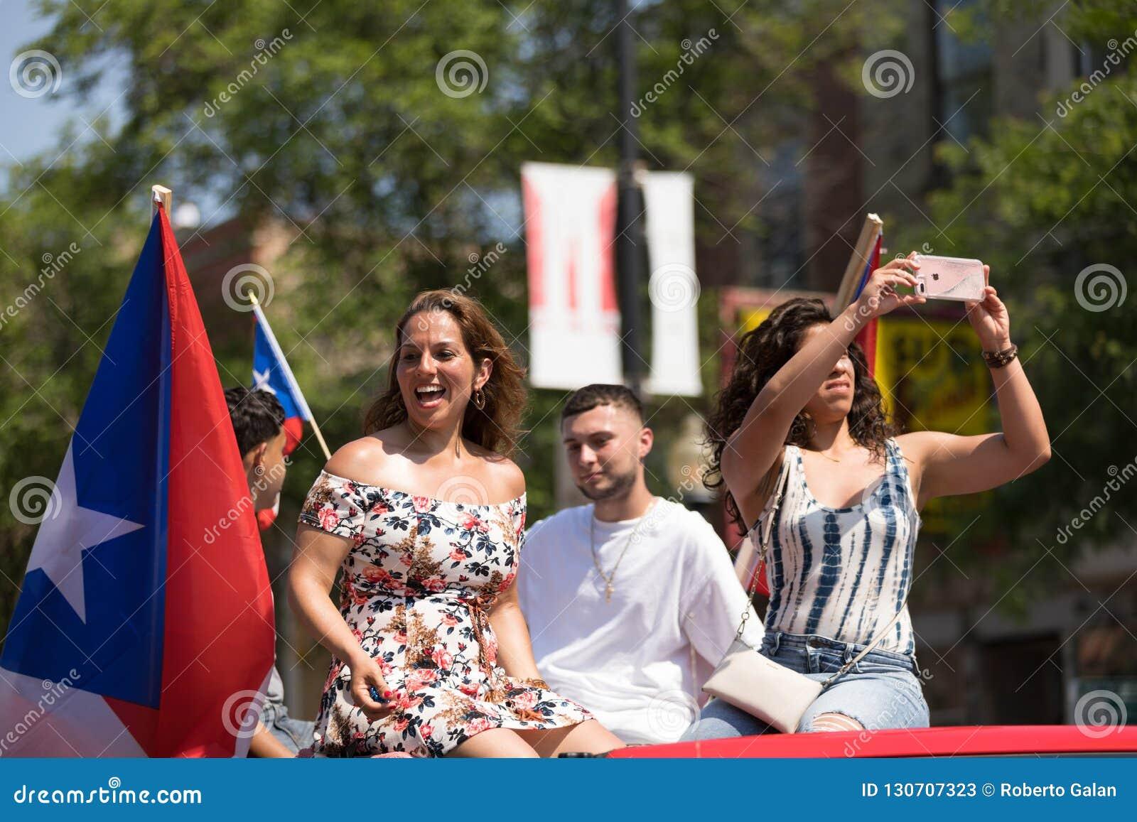 Die puertorikanischen Parade der Leute