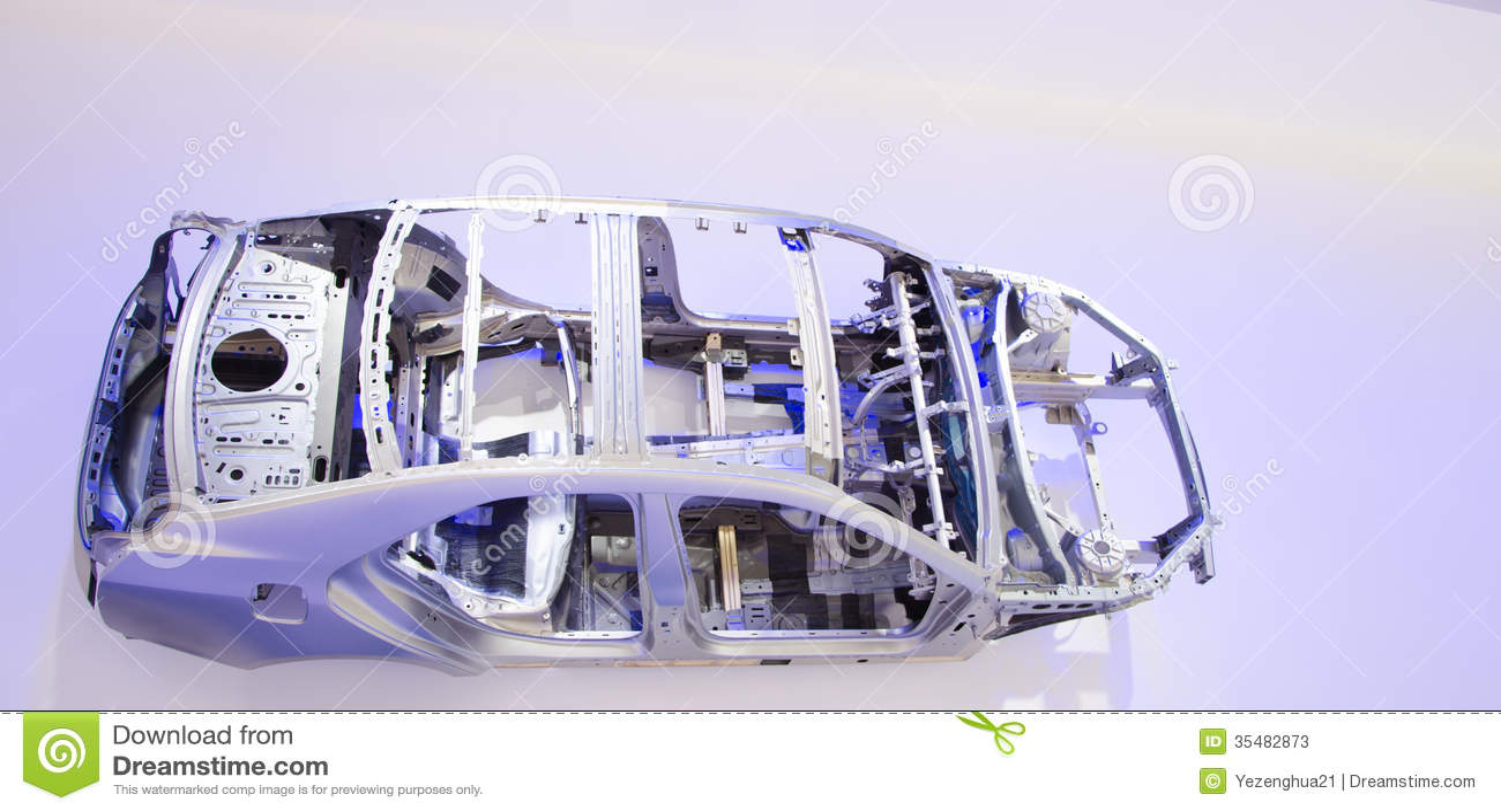 Die Rahmenkonstruktion Des Autos Stockbild - Bild von japan, rahmen ...