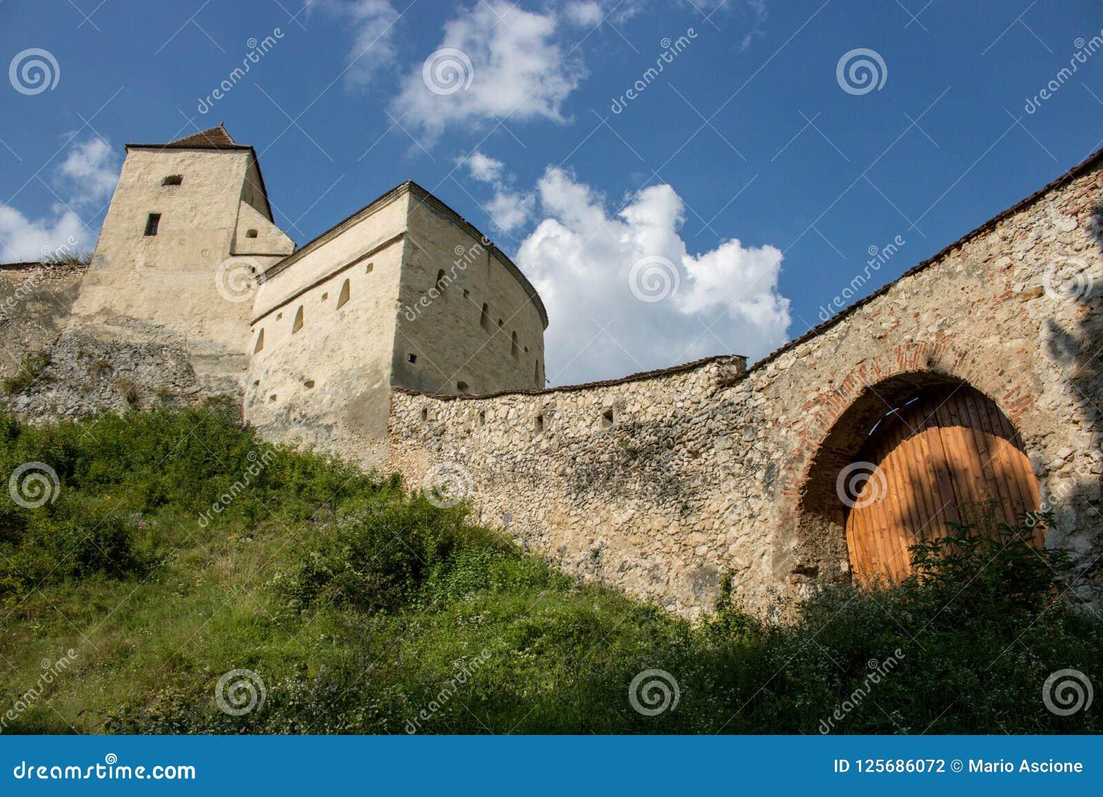 Die Rasnov-Festung, Rumänien