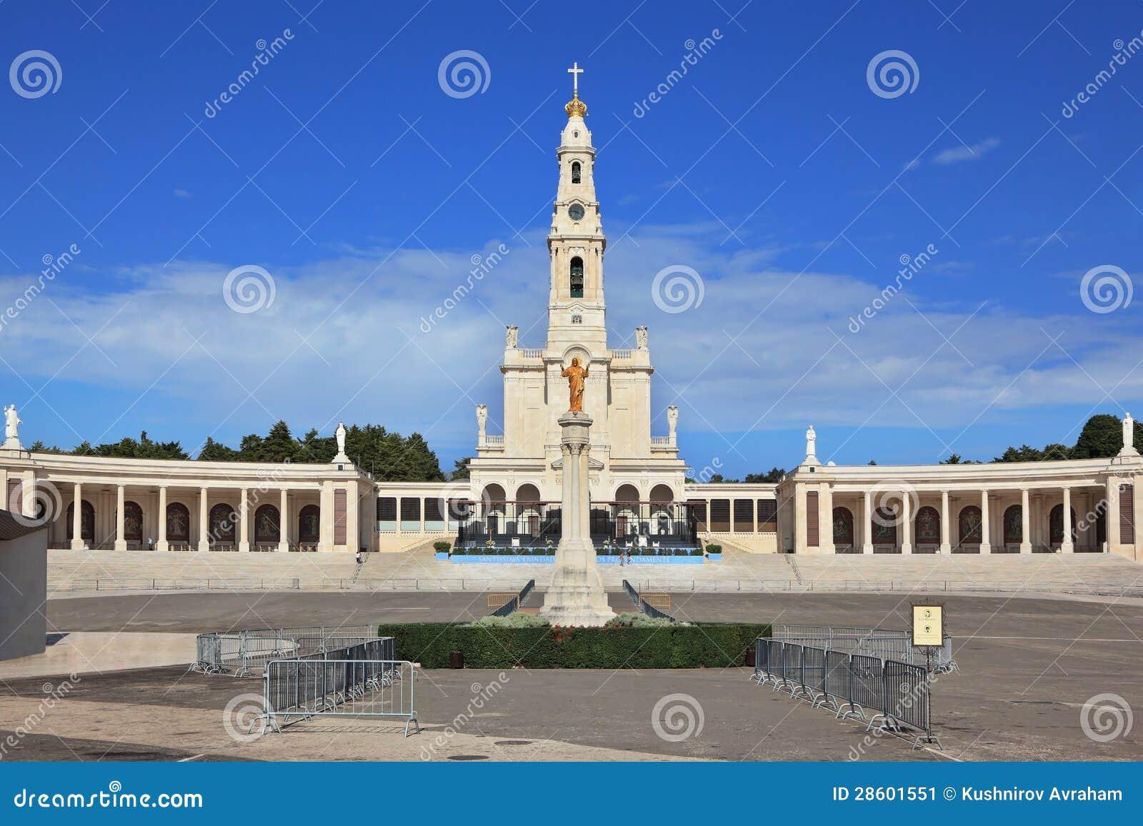 Die religiöse komplexe portugiesische Stadt von Fatima