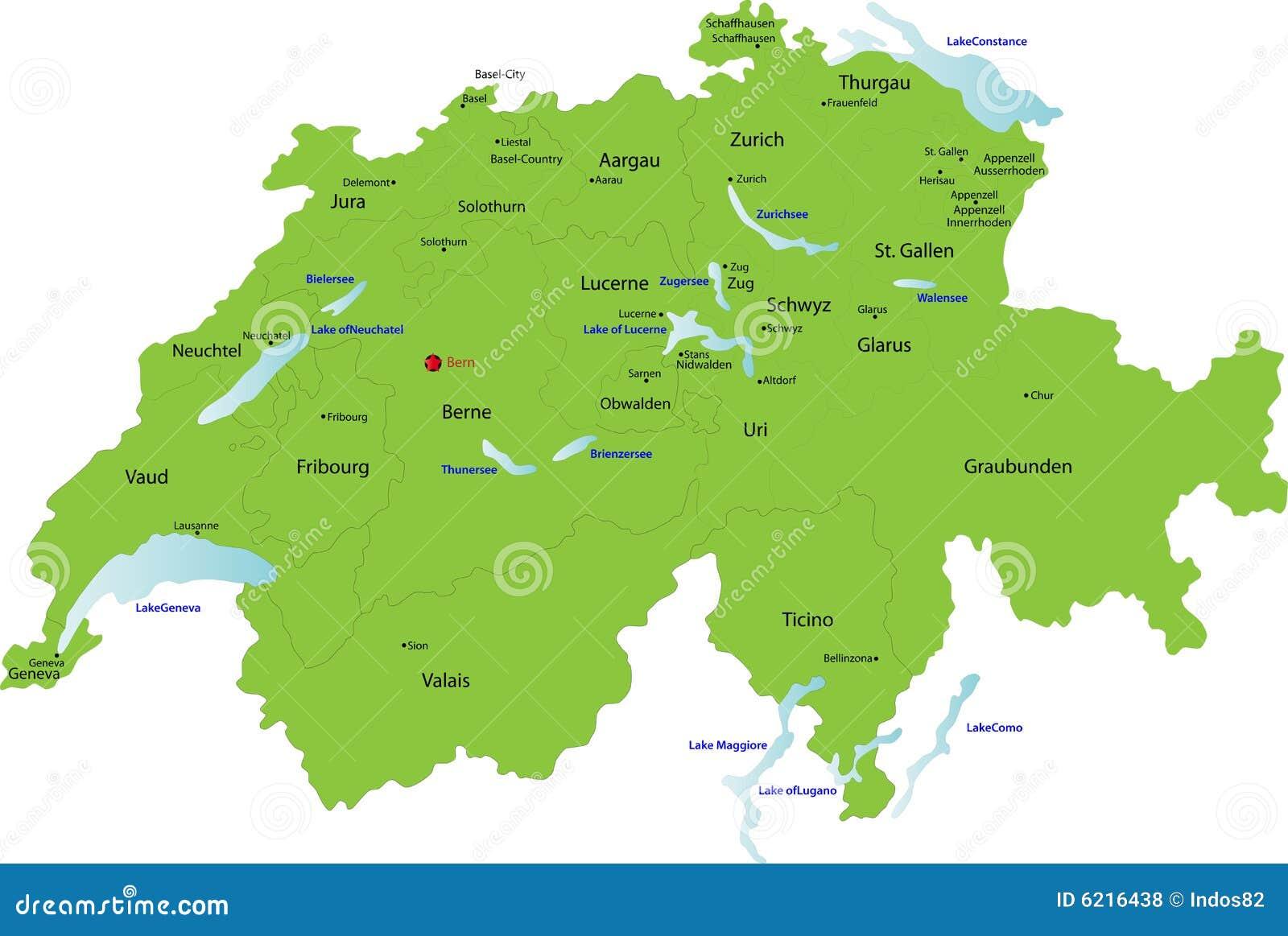 Die Schweiz-Karte,