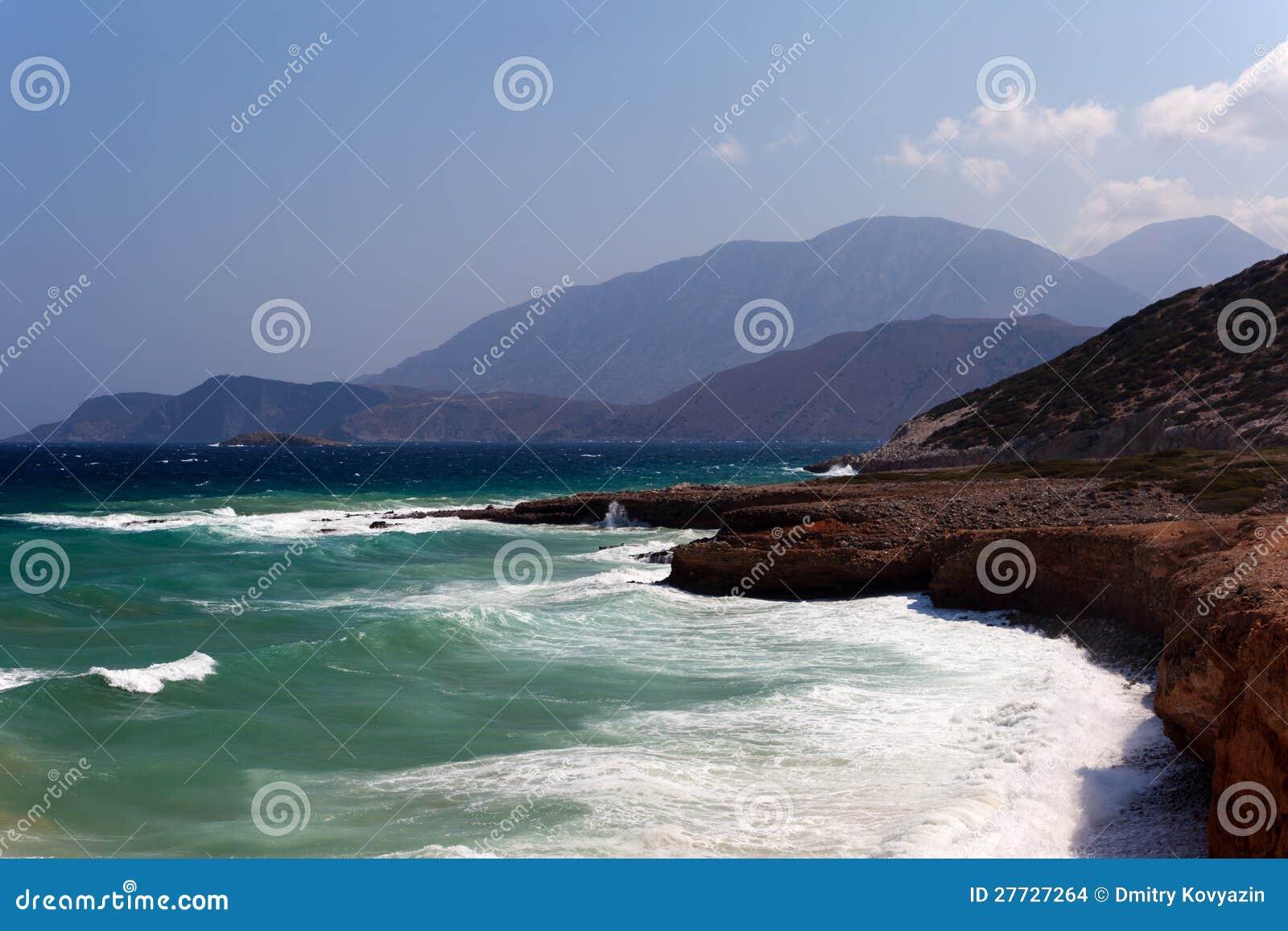 Die Seeküste der Insel