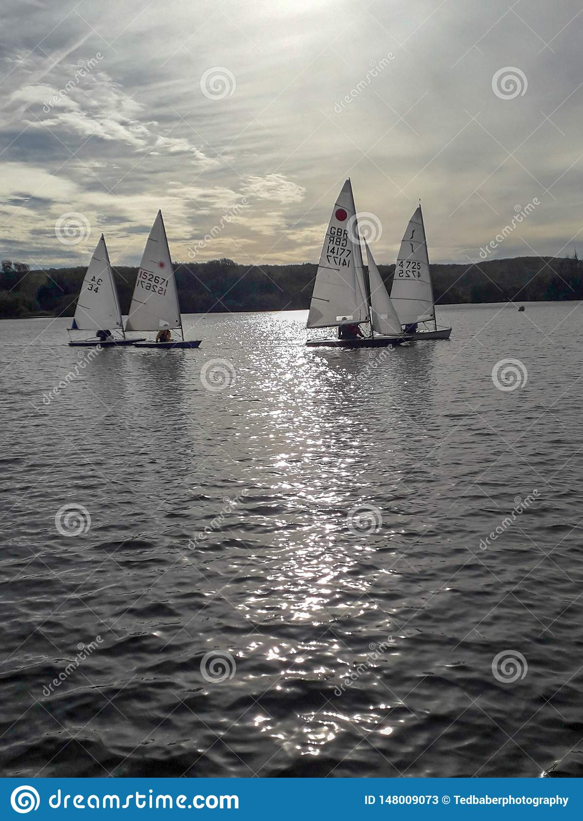 Die Segelboote auf dem See