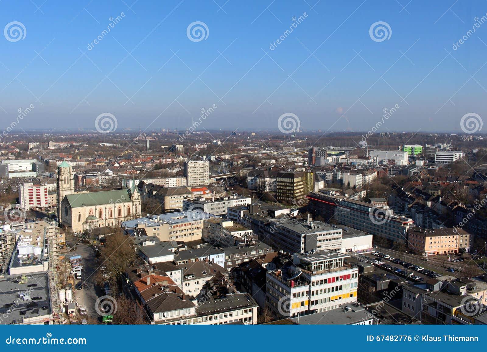 Die Skyline von Essen (Deutschland)
