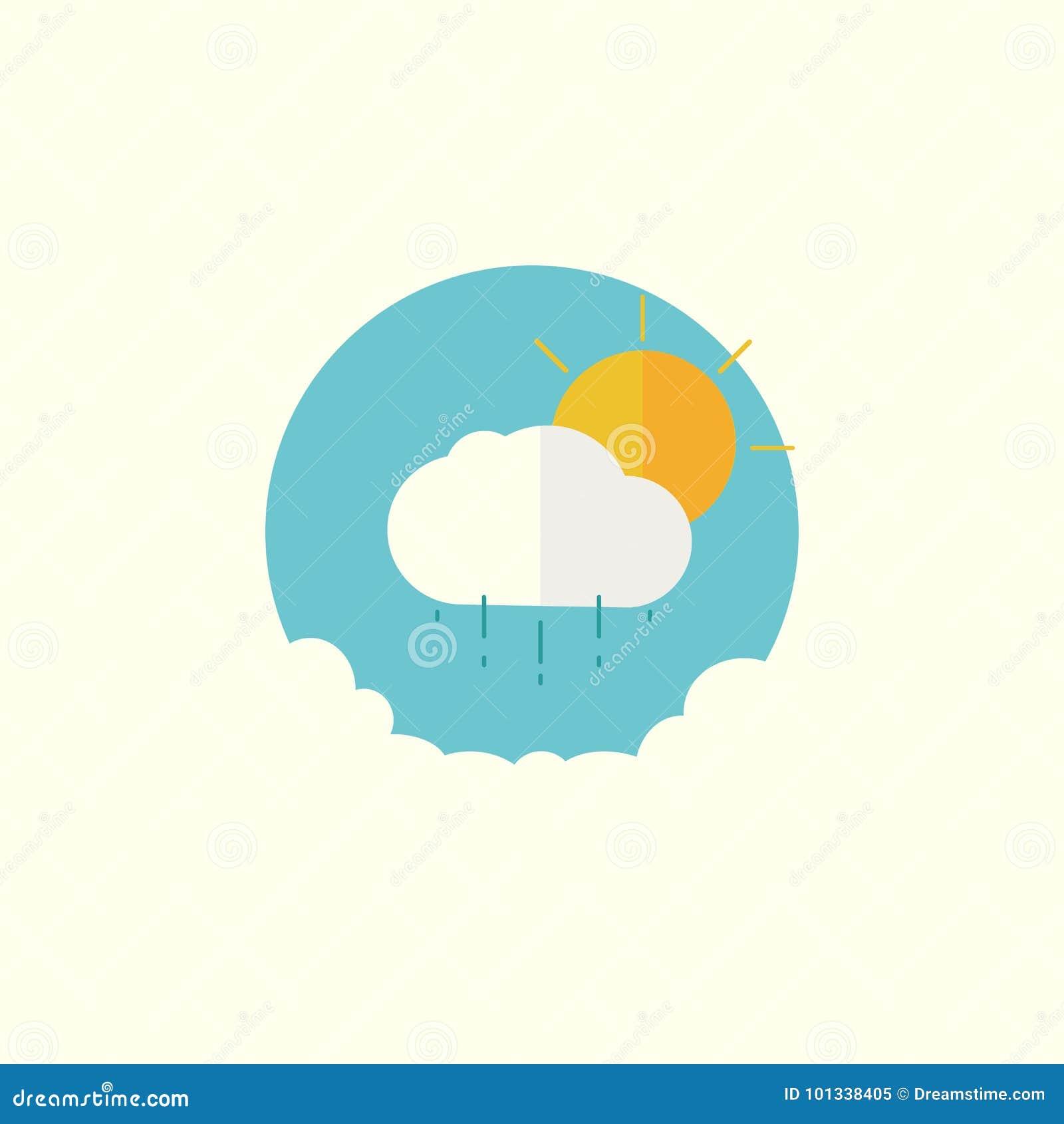 Die Sonne wird hinter der Wolke versteckt