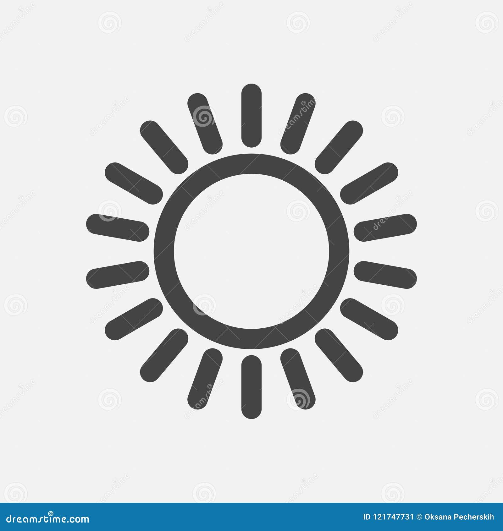 Die Sonnenikone Flache Sun-Ikone