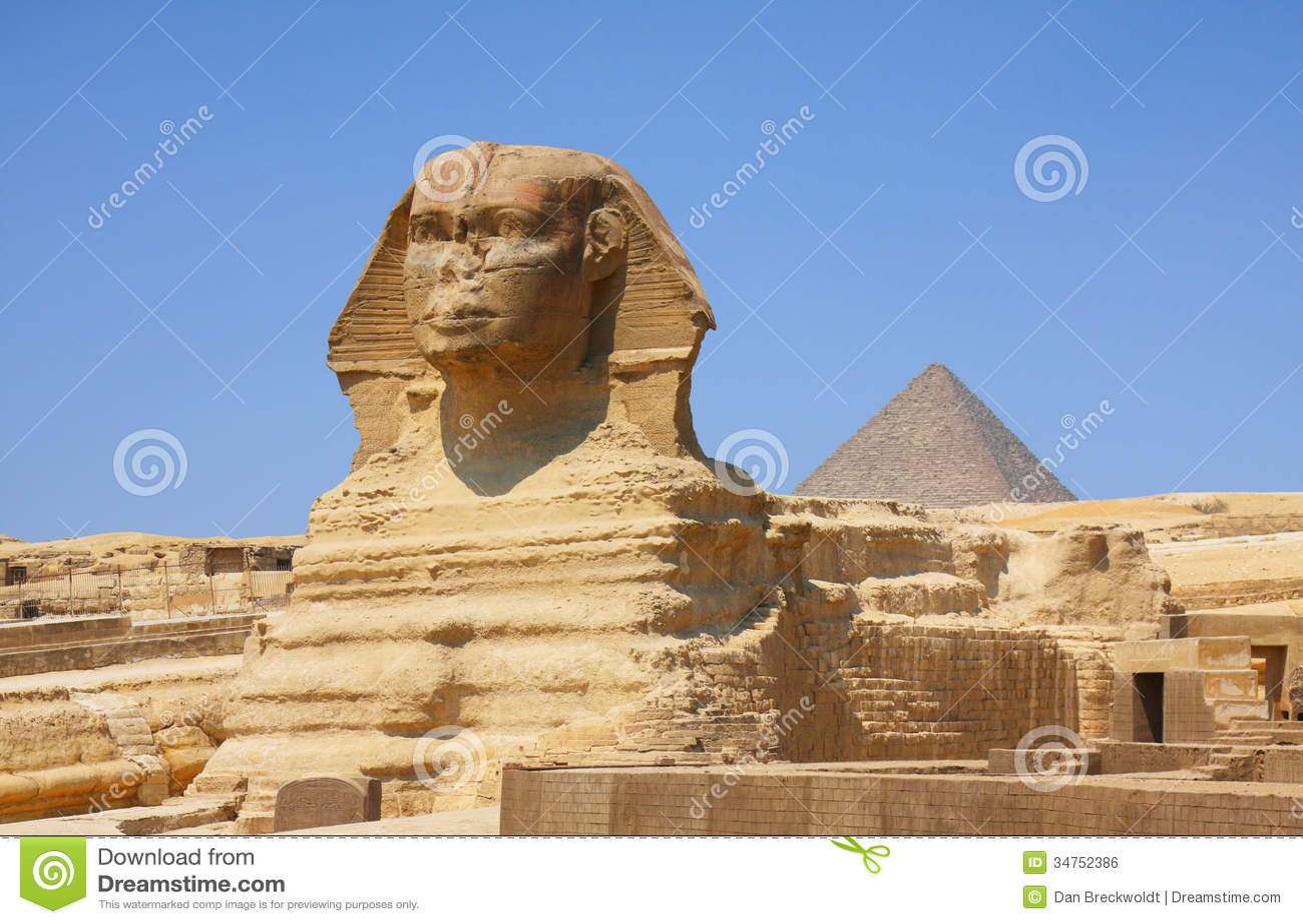 Die Sphinx und die Pyramiden in Ägypten