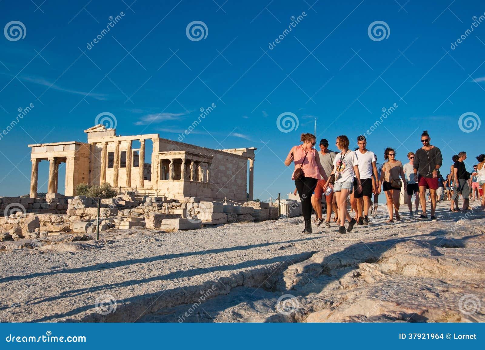 Die Spitze der Akropolises von Athen am 1. Juli 2013 in Griechenland.
