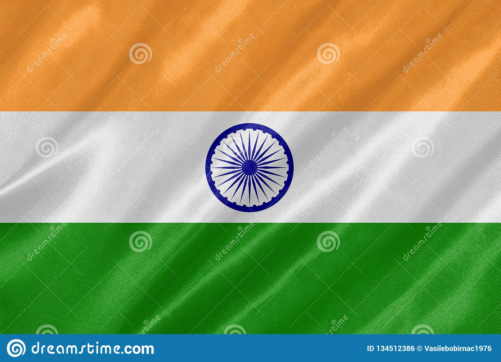 Die Staatsflagge von Indien