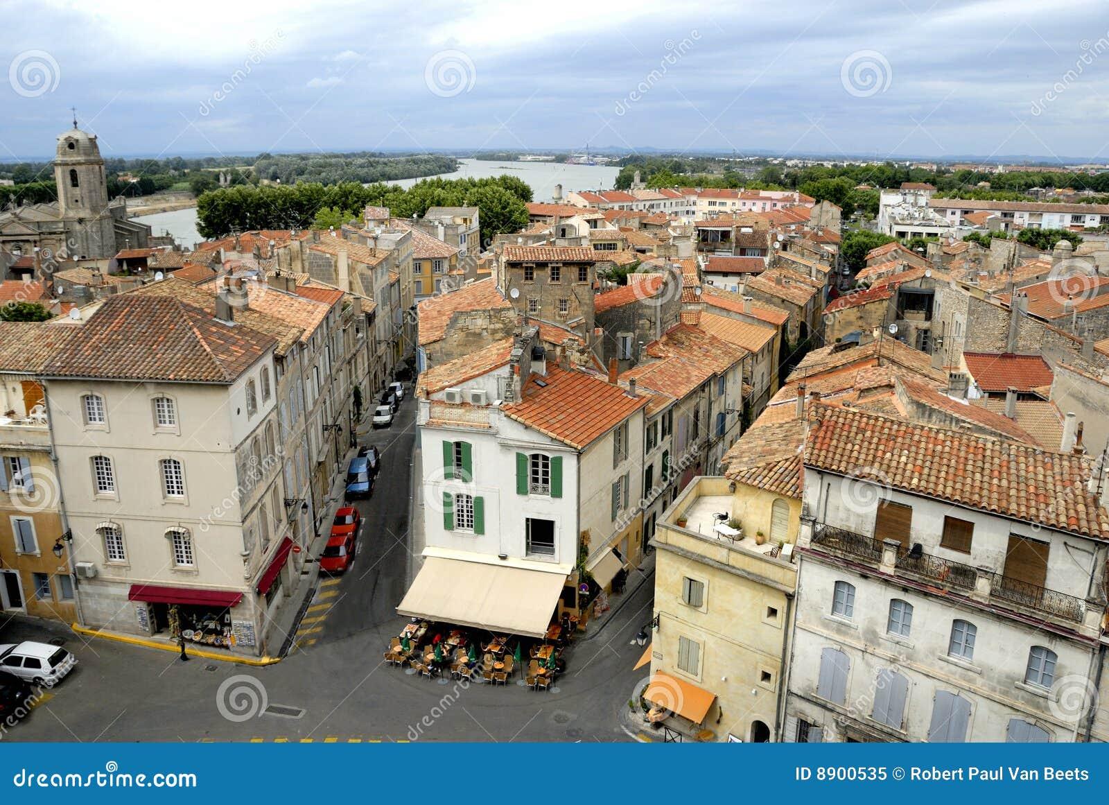 Die Stadt von Arles in Frankreich