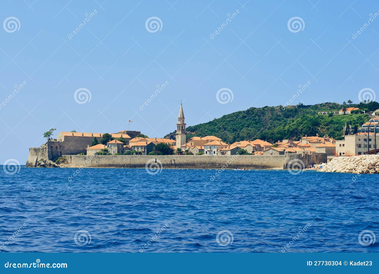 Die Stadt von Budva in Montenegro
