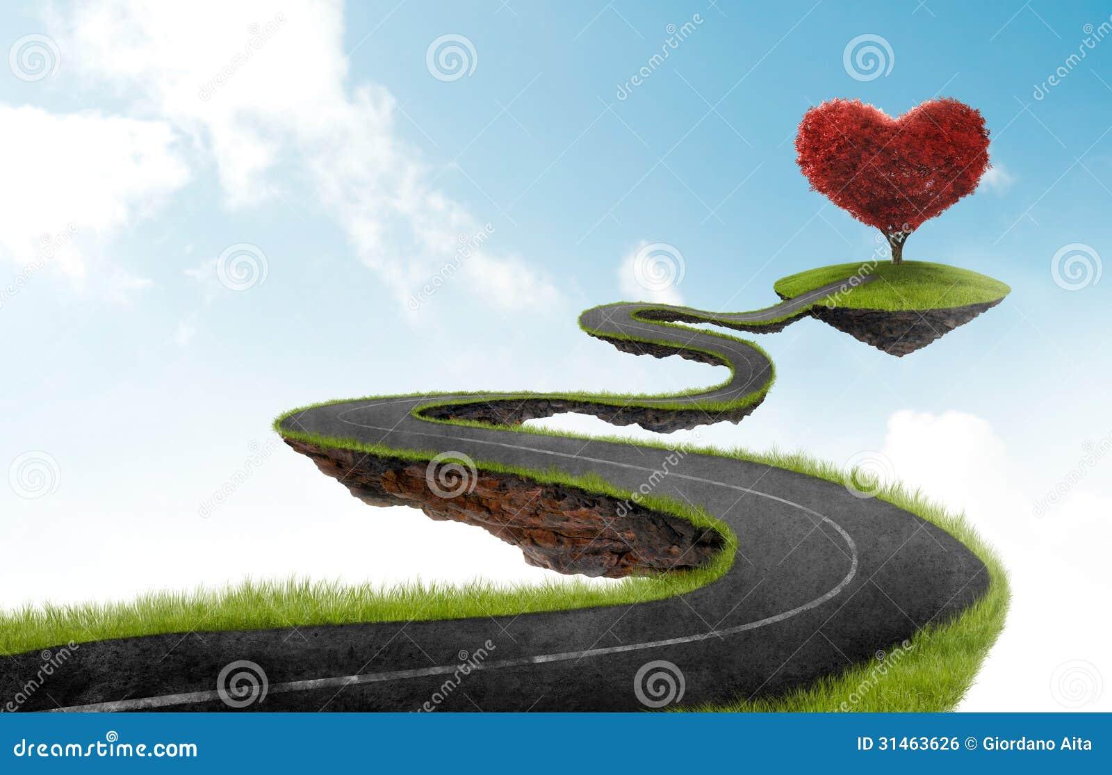 Die Straße zum Herzbaum