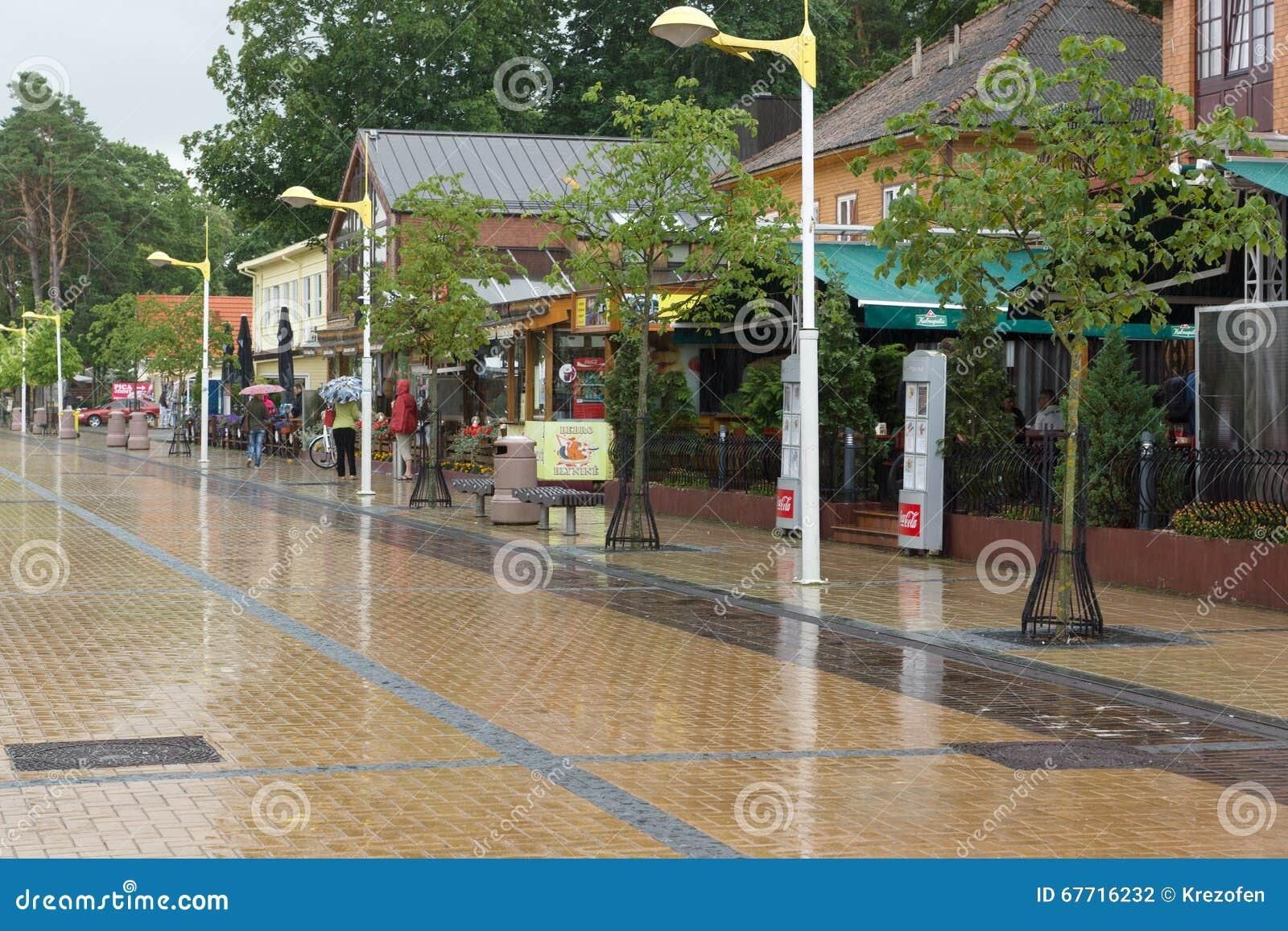 Die Straßen von Palanga-Stadt in Litauen