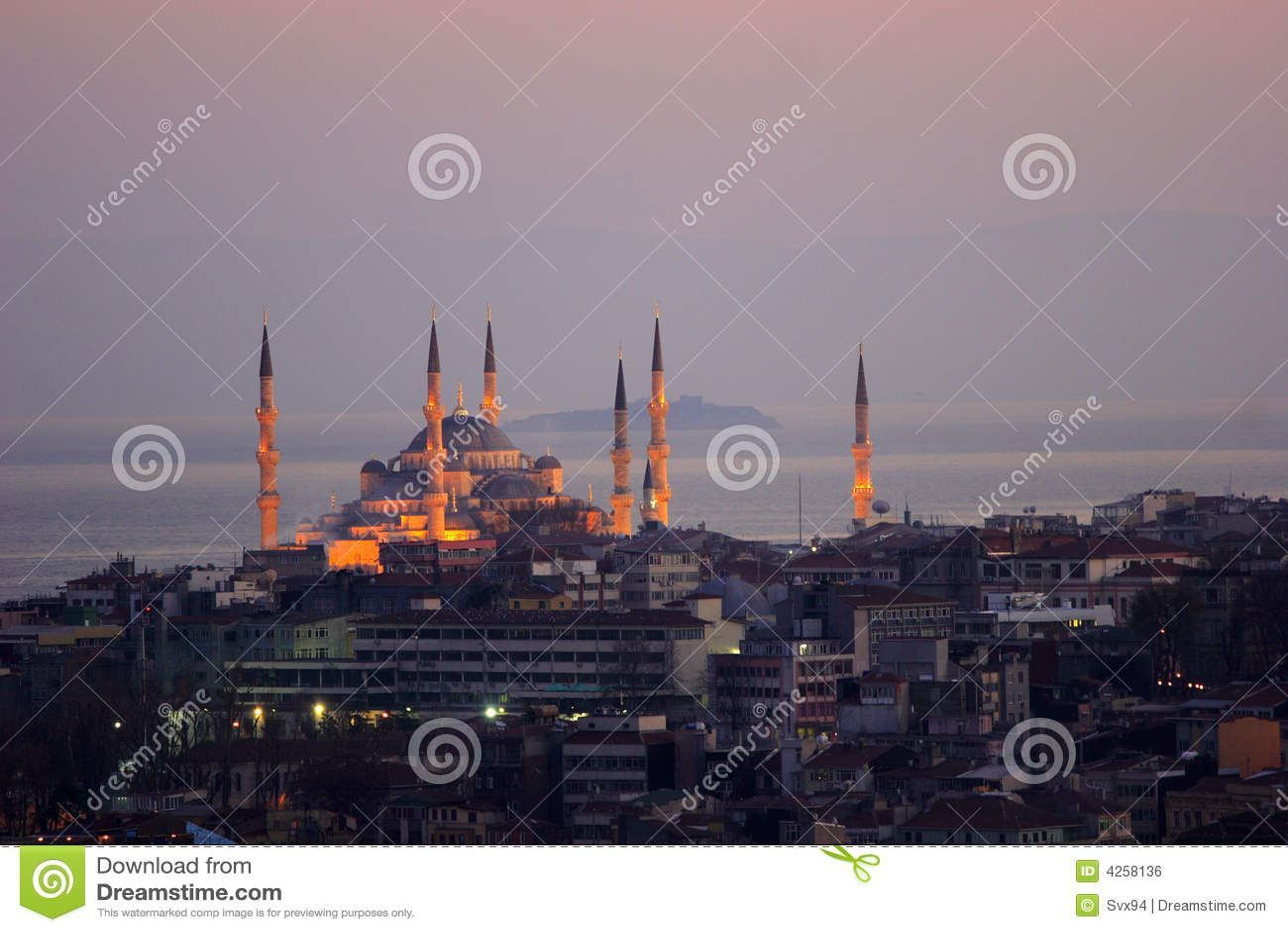Die Sultan-Ahmed-Moschee - blaue Moschee von Istanbul
