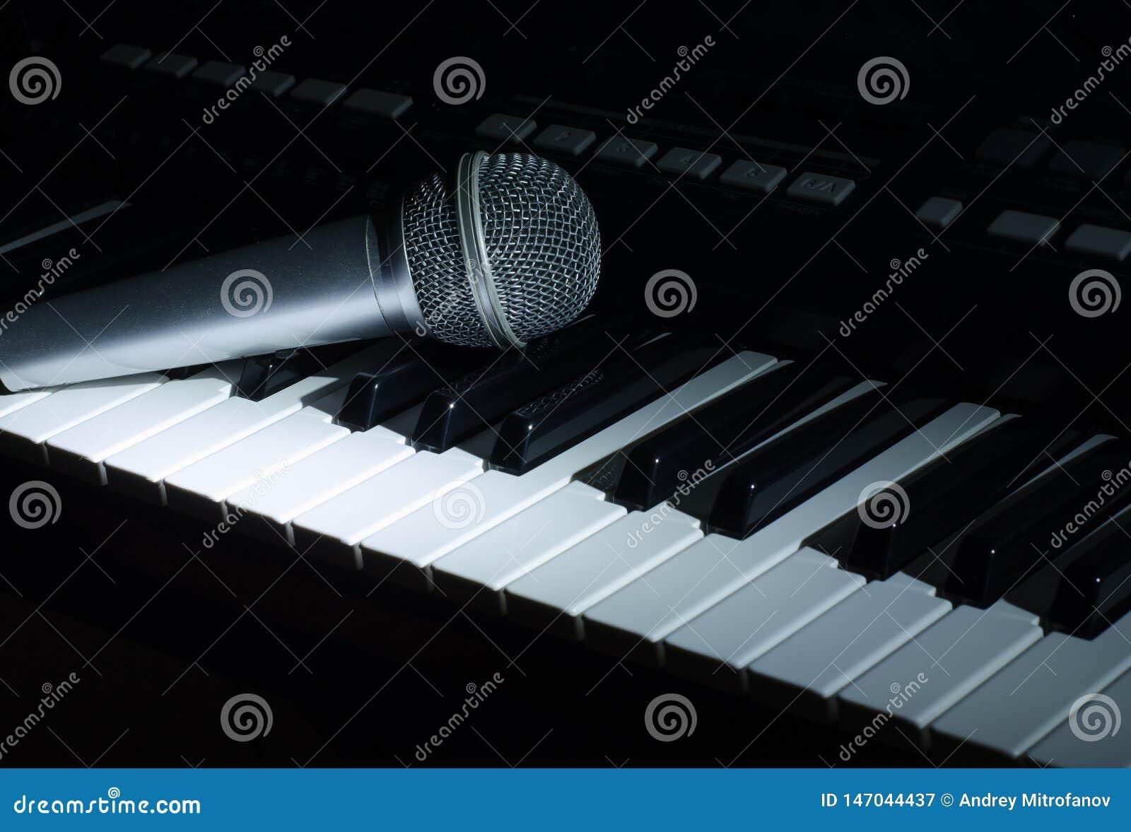 Die synthesizermusik in der Dunkelheit Mikrofon