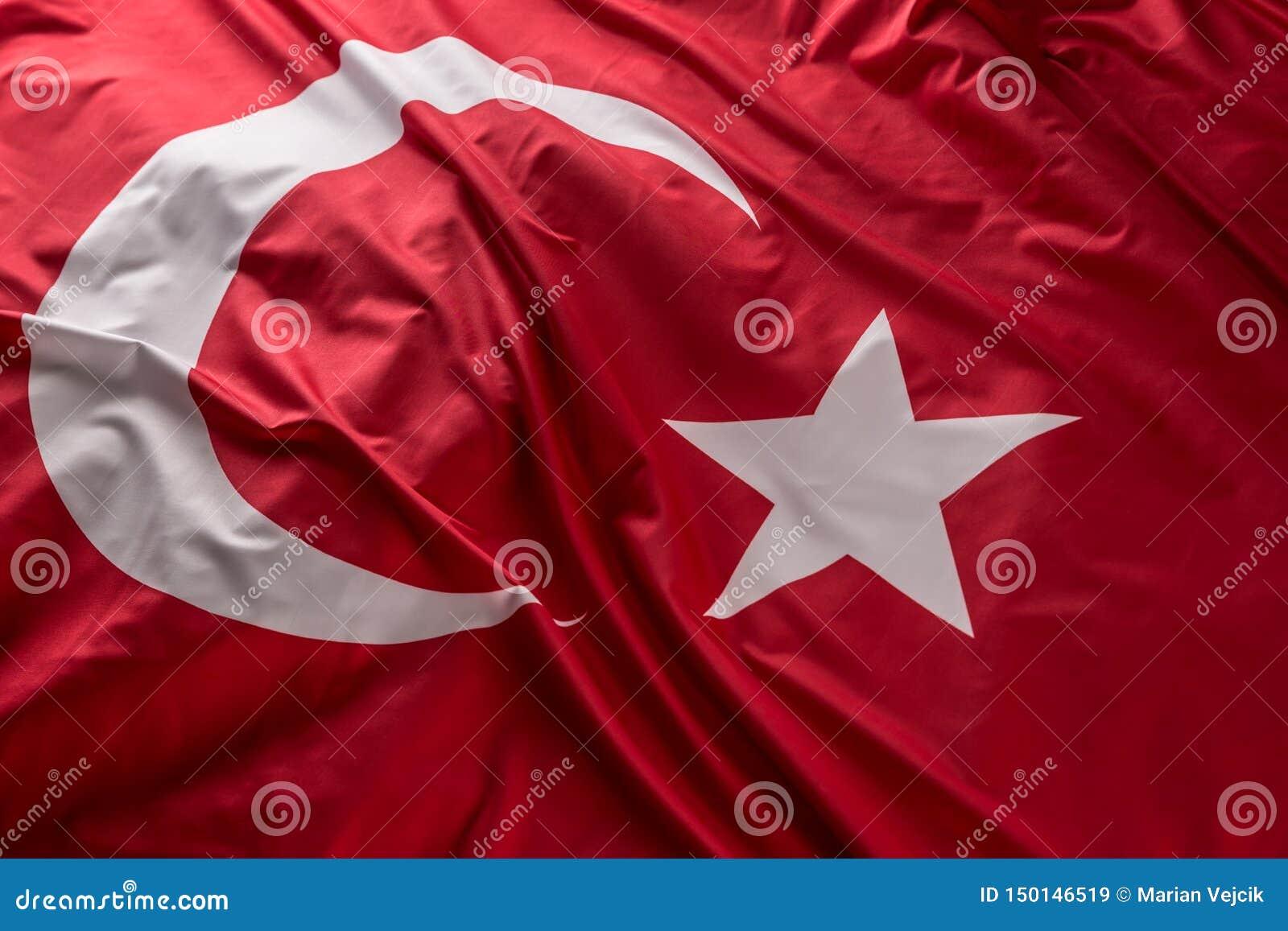 Die Türkei fahnenschwenkend im Wind - Spitze der Ansicht