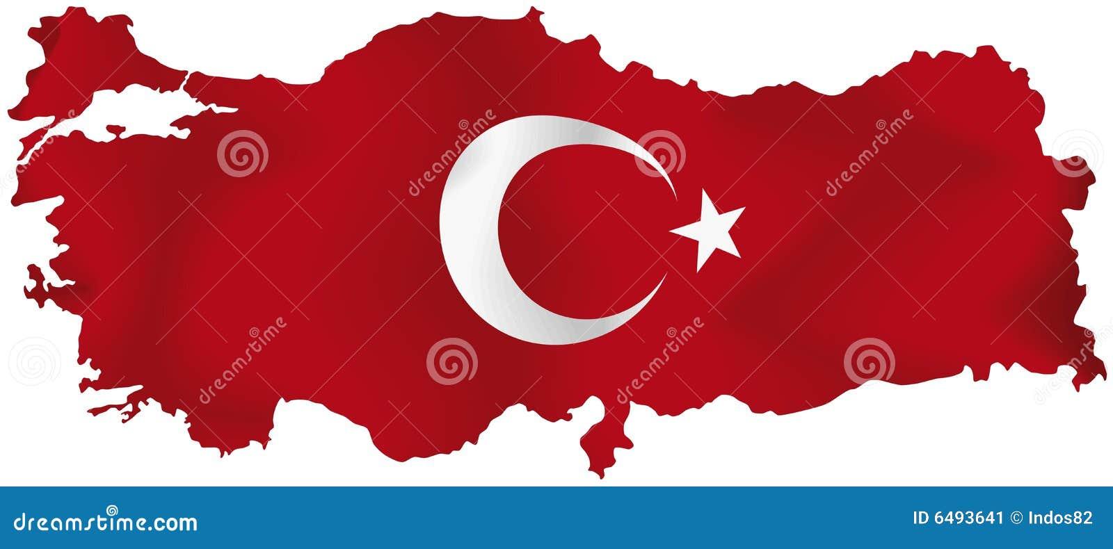 Die Türkei-Karte mit Markierungsfahne