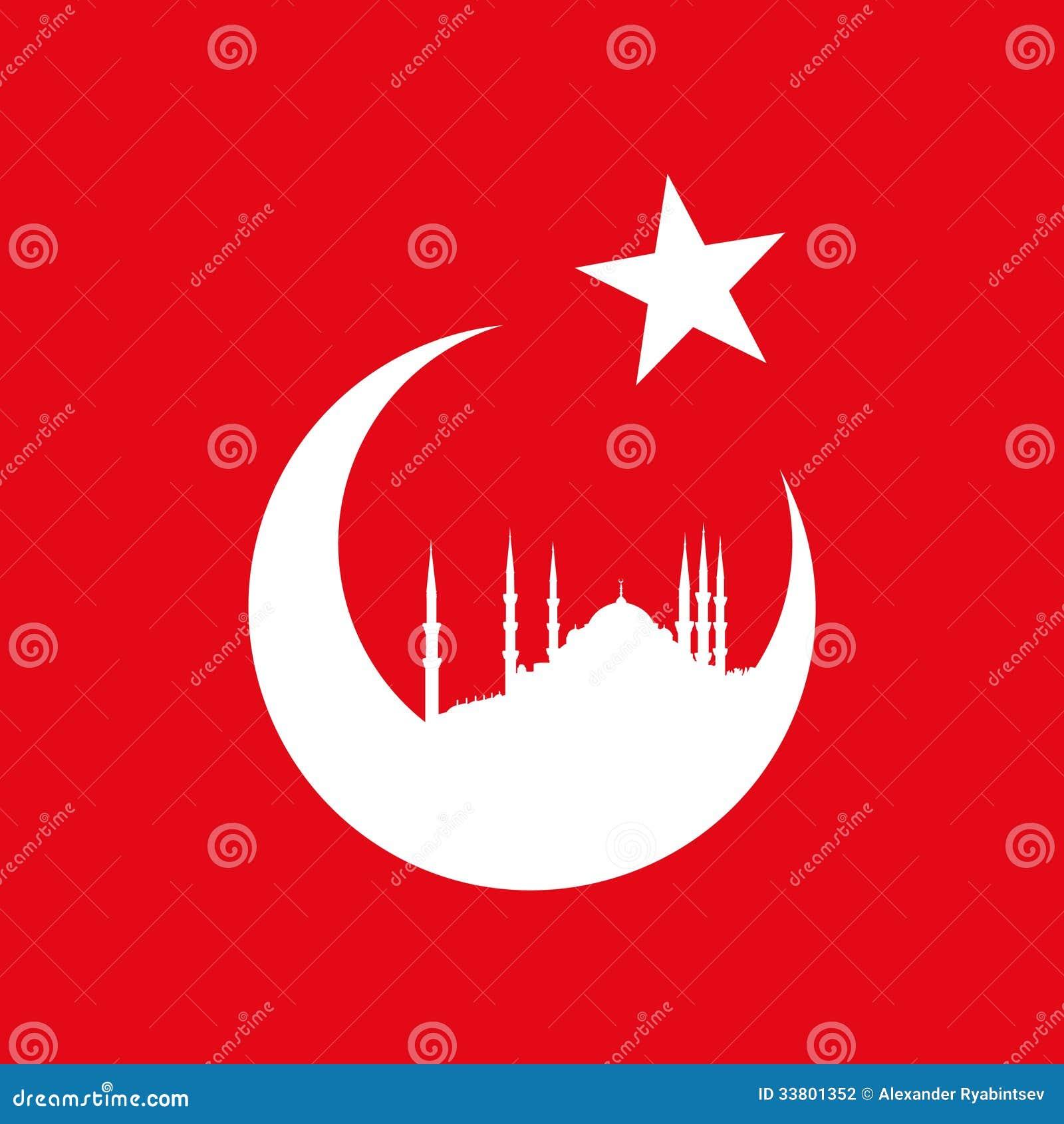 Die Türkei-Symbol Mit Blauer Moschee Vektor Abbildung - Illustration ...