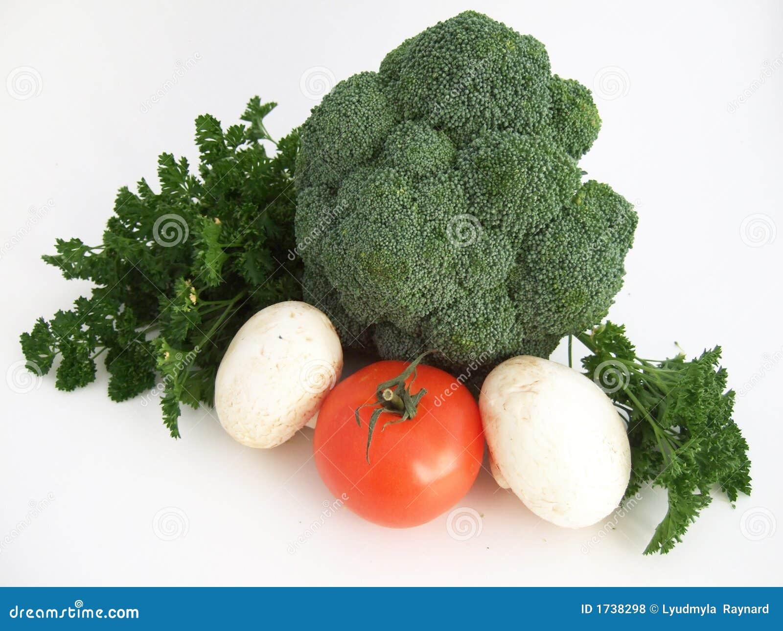 Die Tomaten, Kohl, mushrums und die Petersilie