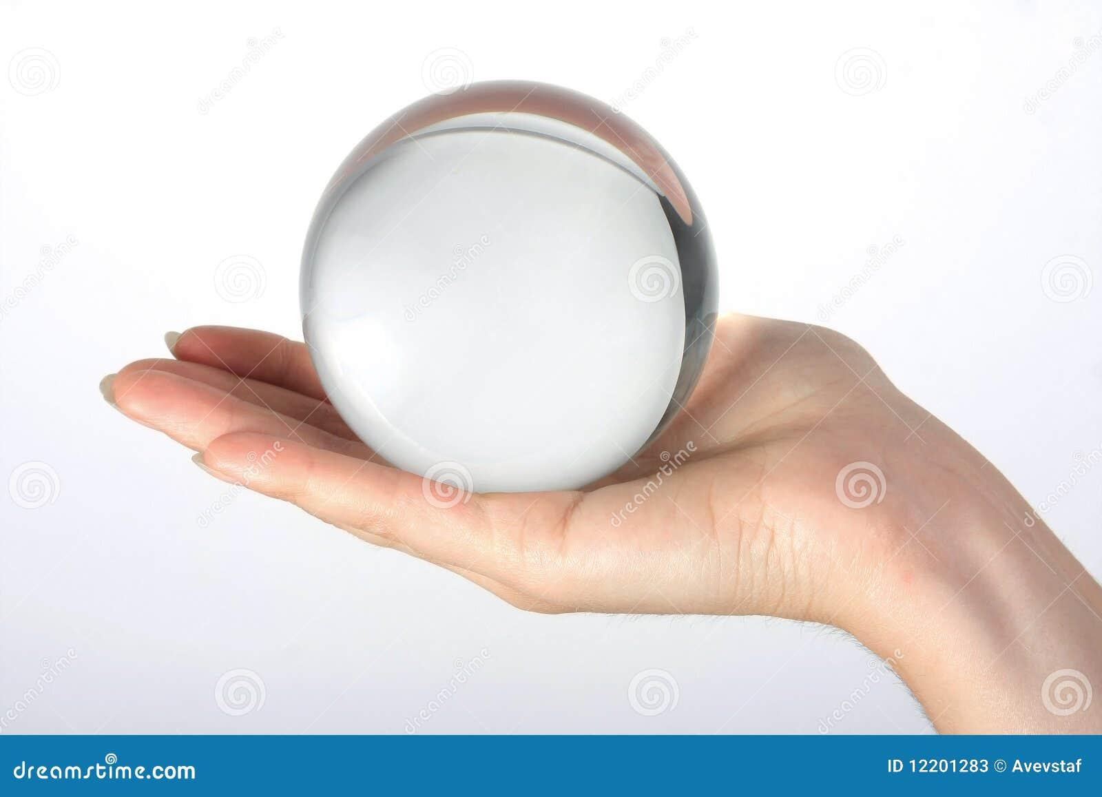 Die transparente Glaskugel
