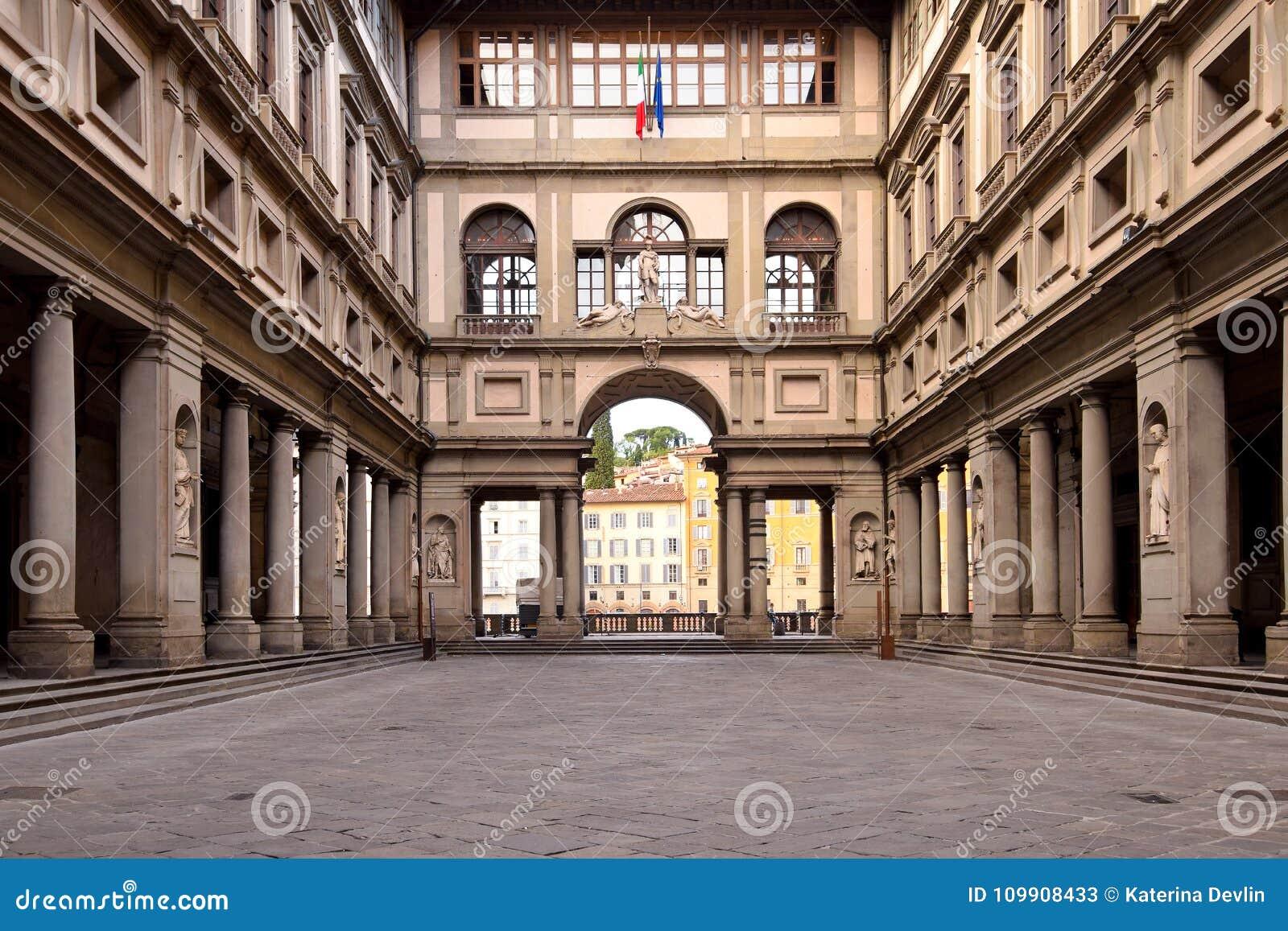 Die Uffizi-Galerie in Florenz