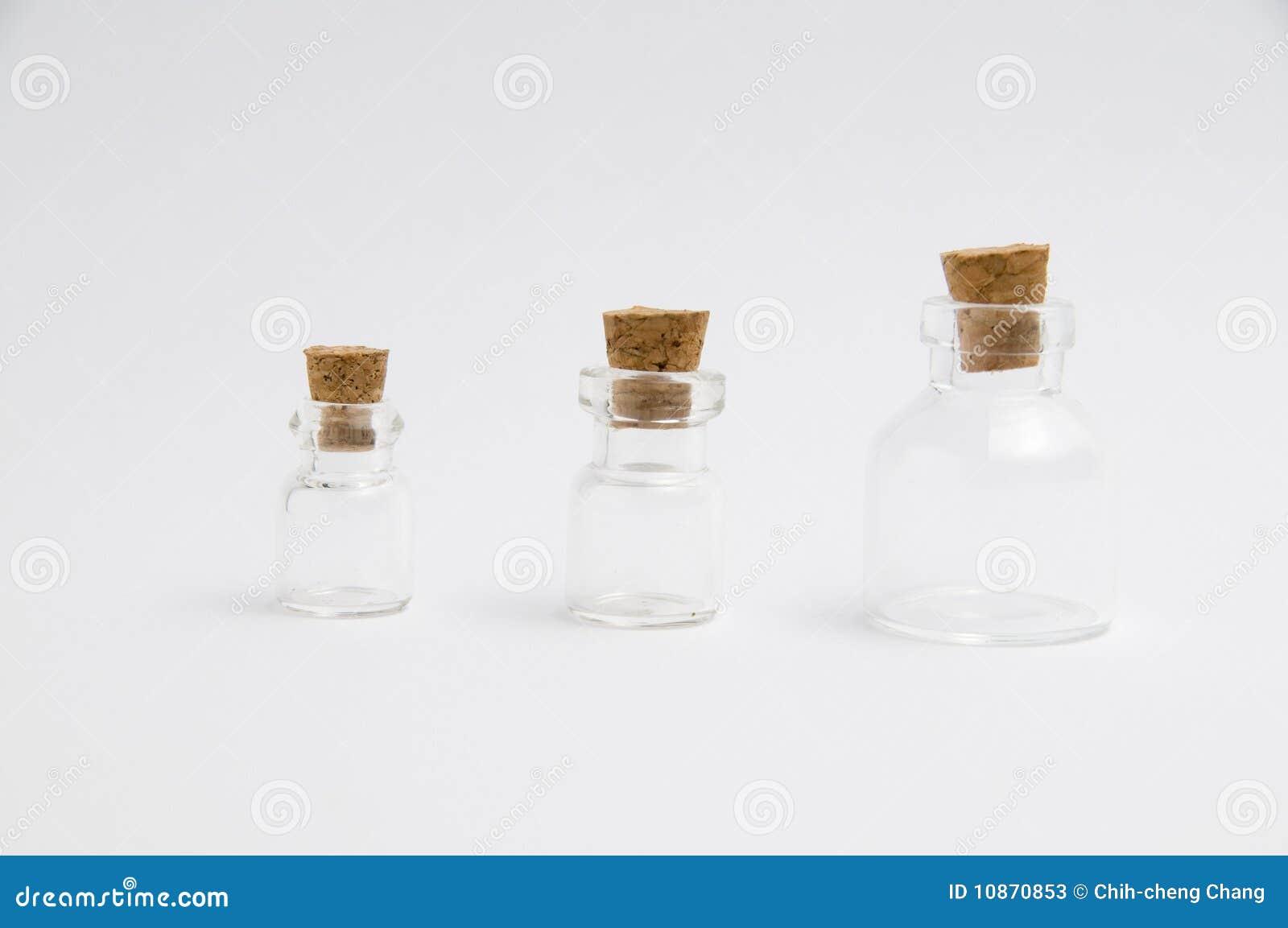 Die unterschiedliche Größenflasche
