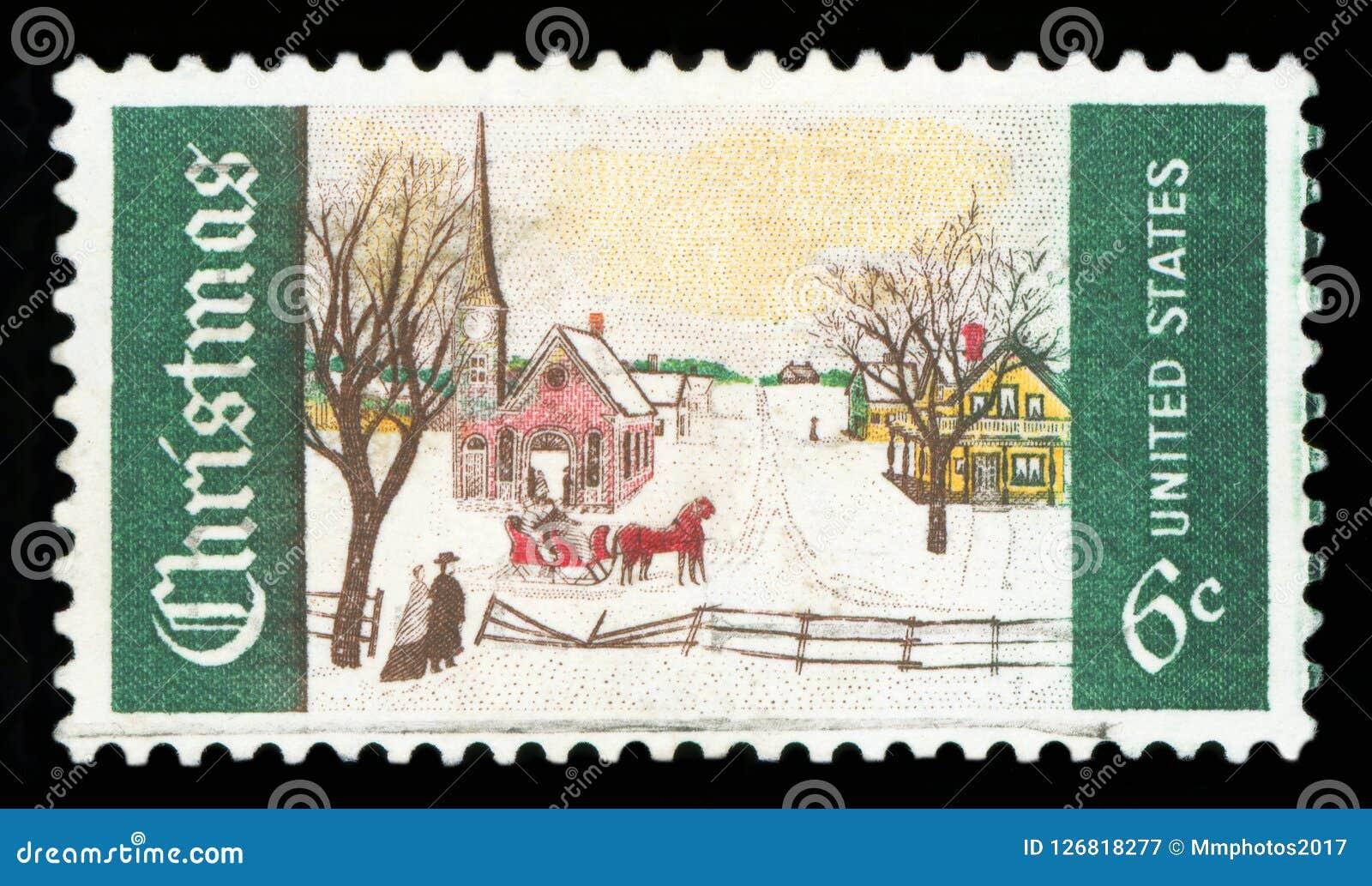 DIE VEREINIGTEN STAATEN VON AMERIKA - Briefmarke