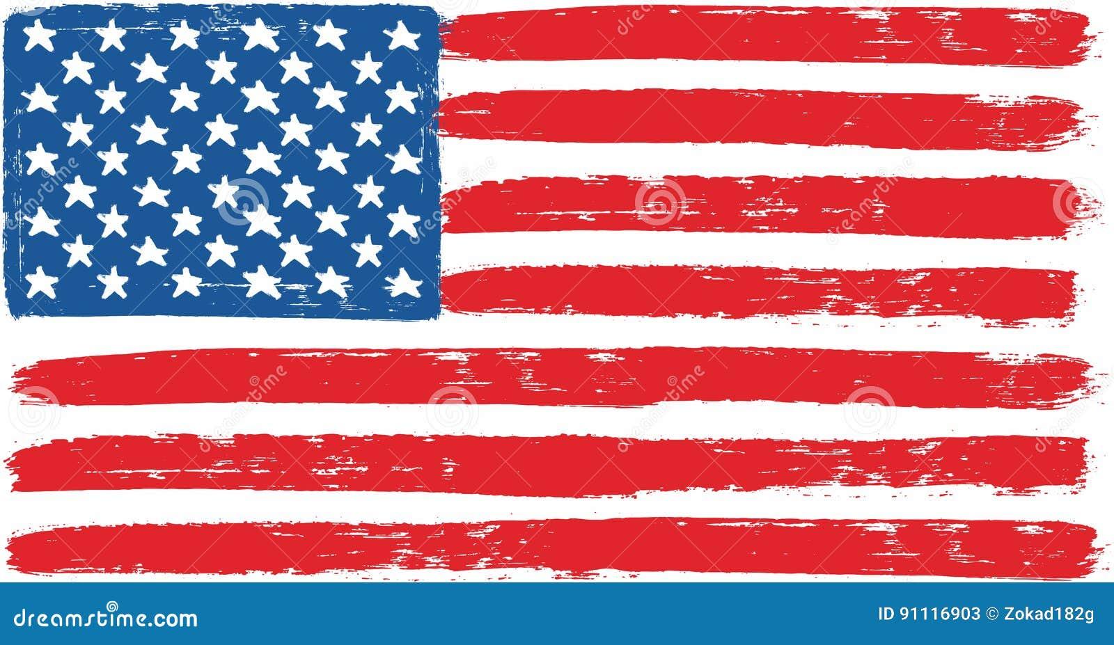Die Vereinigten Staaten Von Amerika Oder Usa Flaggen Vektor