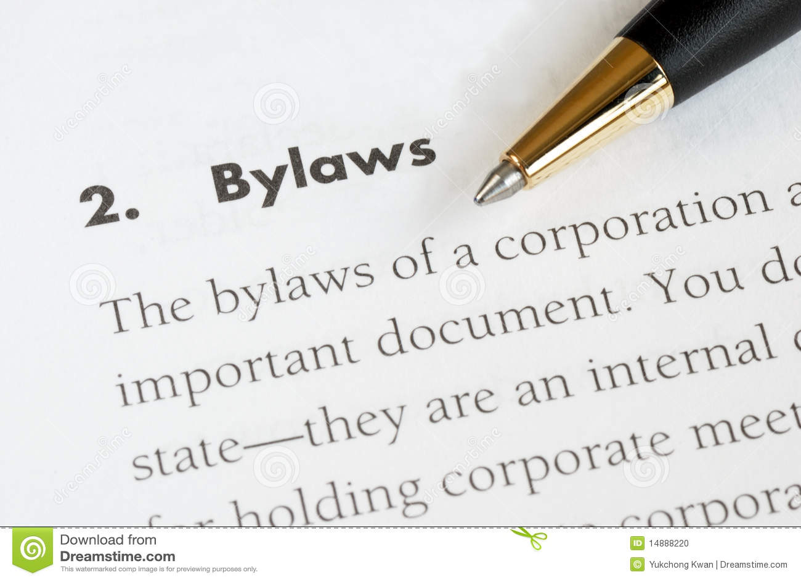 Die Verordnungen einer Korporation