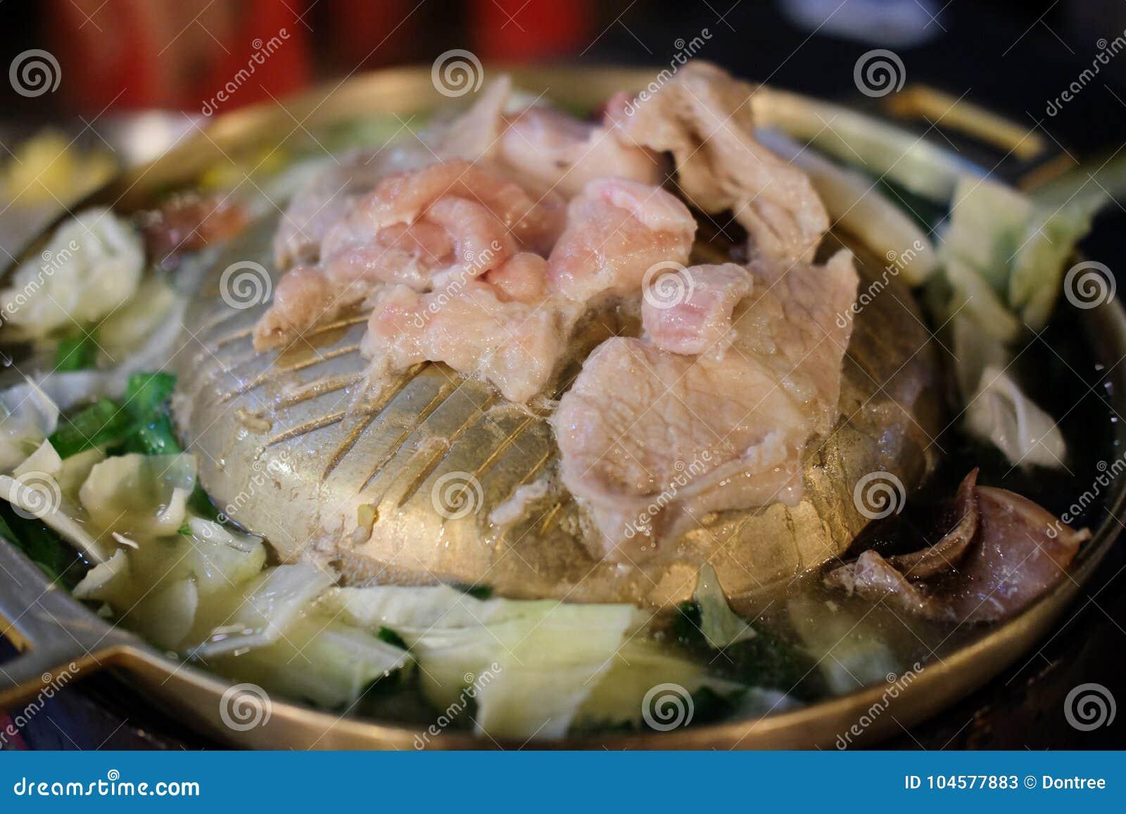 Die Wanne für thailändischen Art BBQ