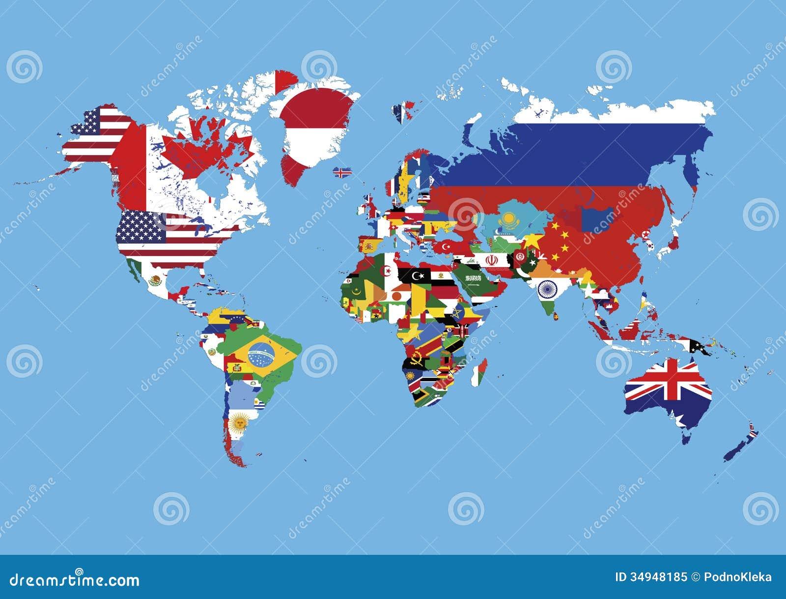 Die Weltkarte Die In Den Landern Gefarbt Wird Kennzeichnet Keine