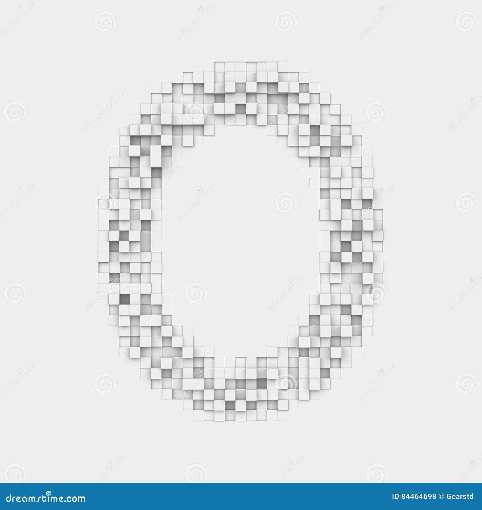 Die Wiedergabe Großen Buchstaben O Bildete Von Den Ungleichen - Fliesen größen