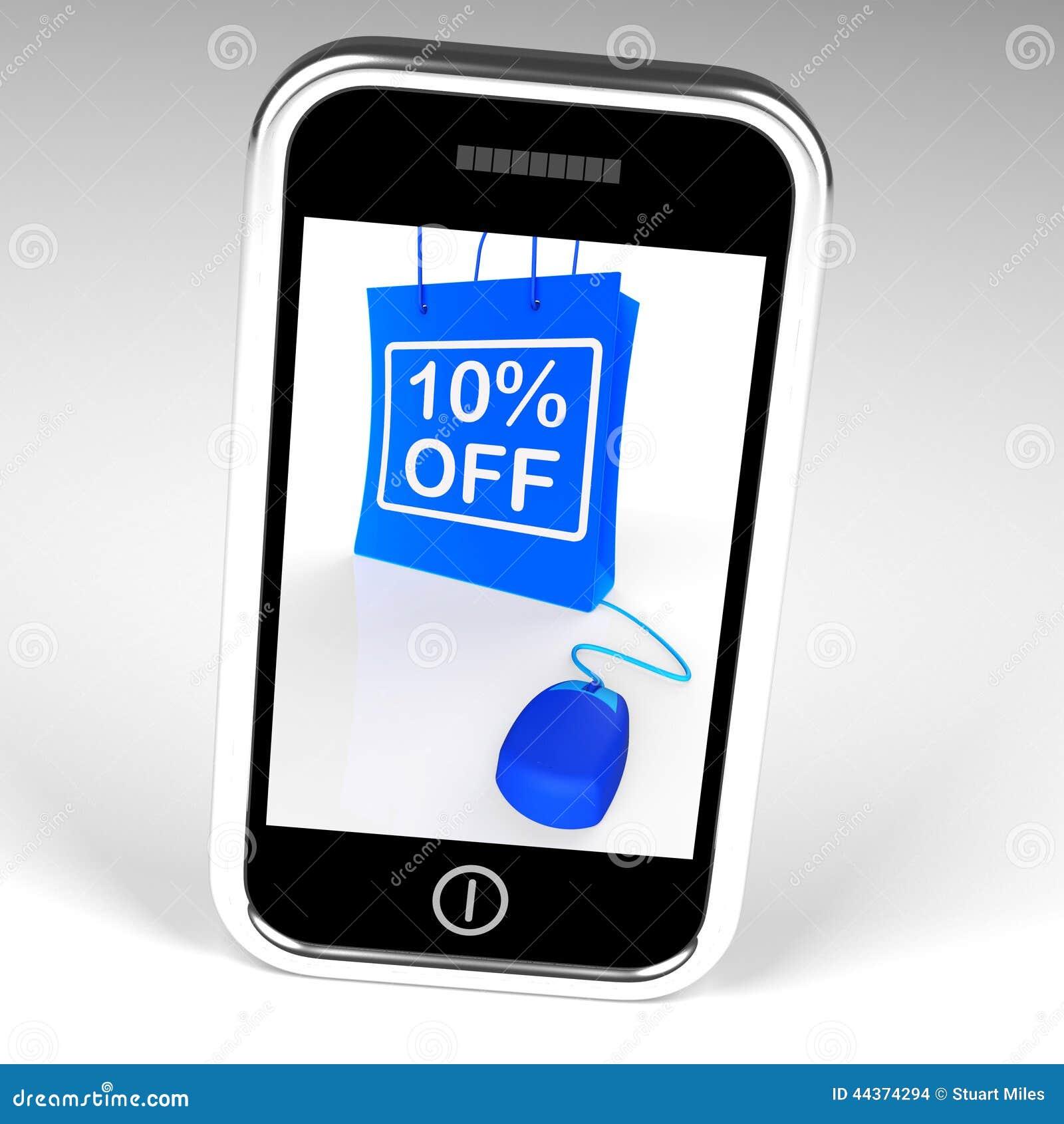 Dieci per cento fuori dalla borsa visualizzano le vendite Online10 e gli sconti