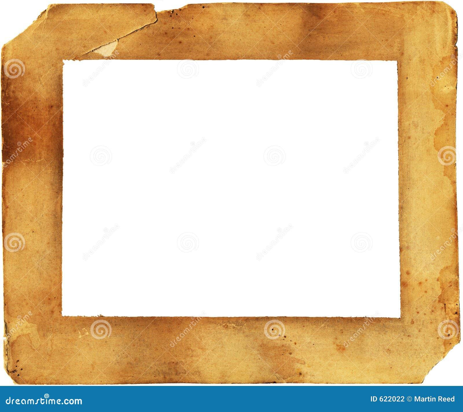 Diecinueveavo marco de papel del siglo deteriorado y - Marcos de papel para fotos ...