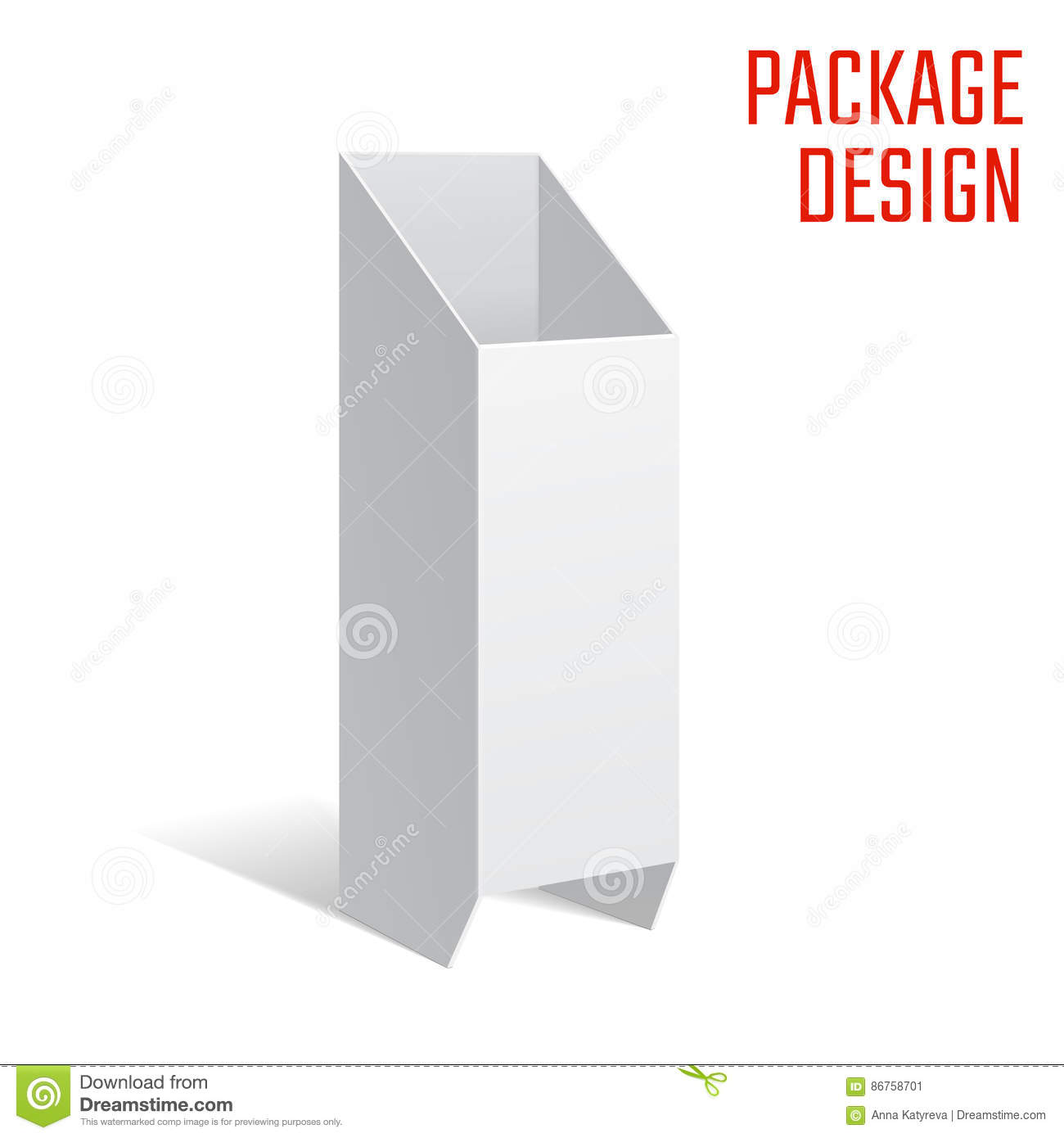 Vector Illustration Of Clear Craft Box For Design Website Background Banner Retail Folding Package Template Fold Pack Blank Your Brand On It