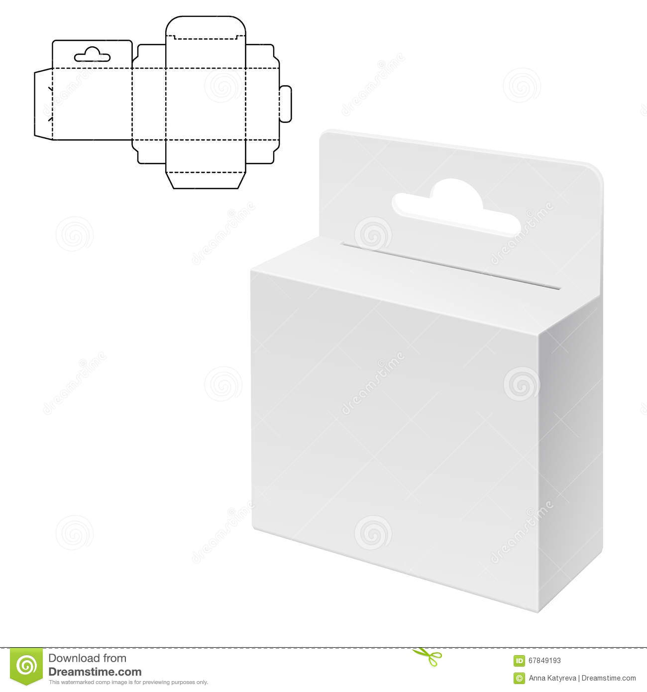 Diecut Craft Box Stock Vector Illustration Of Isolated 67849193