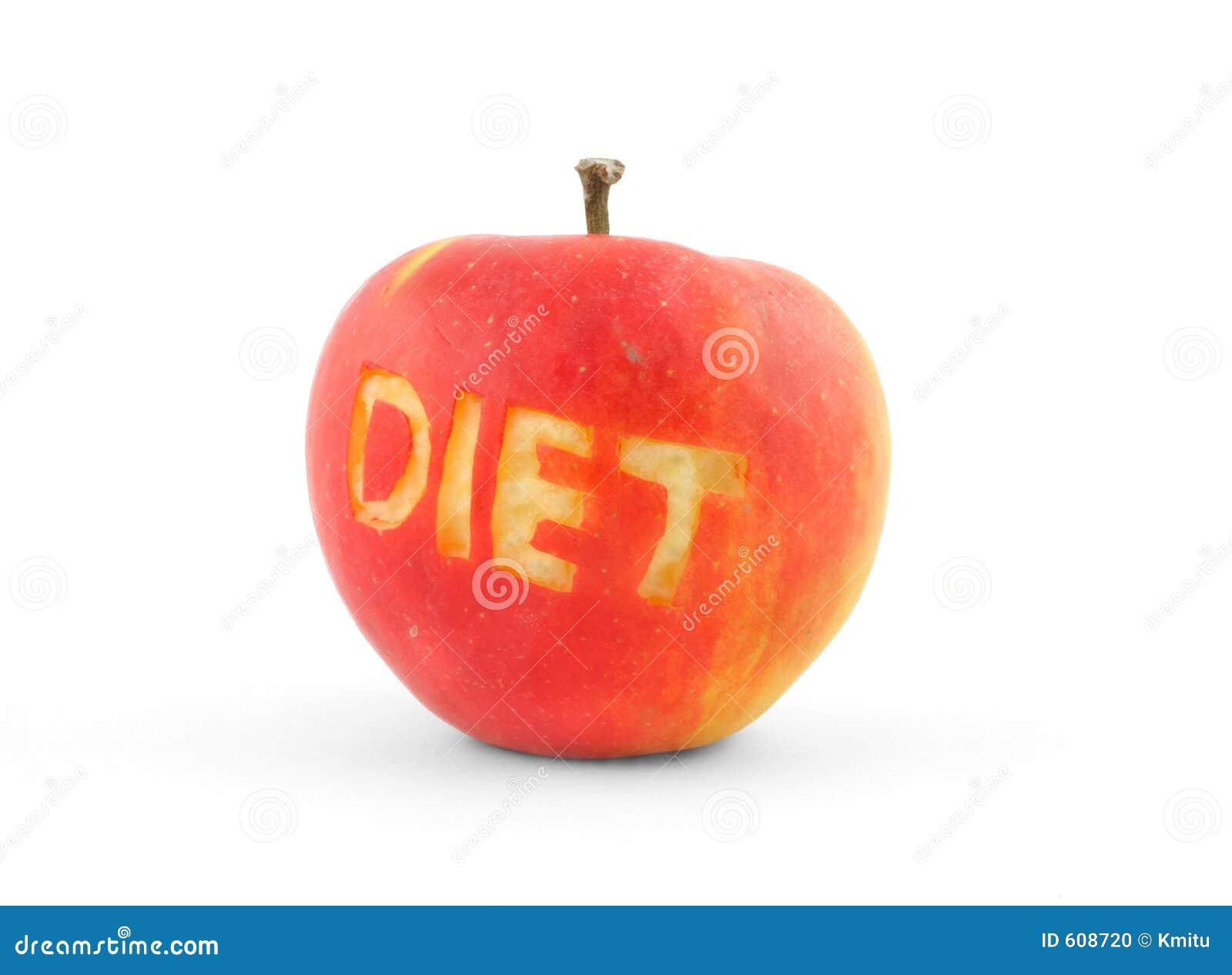 DIEET van Word schaafde uit in een rode appel