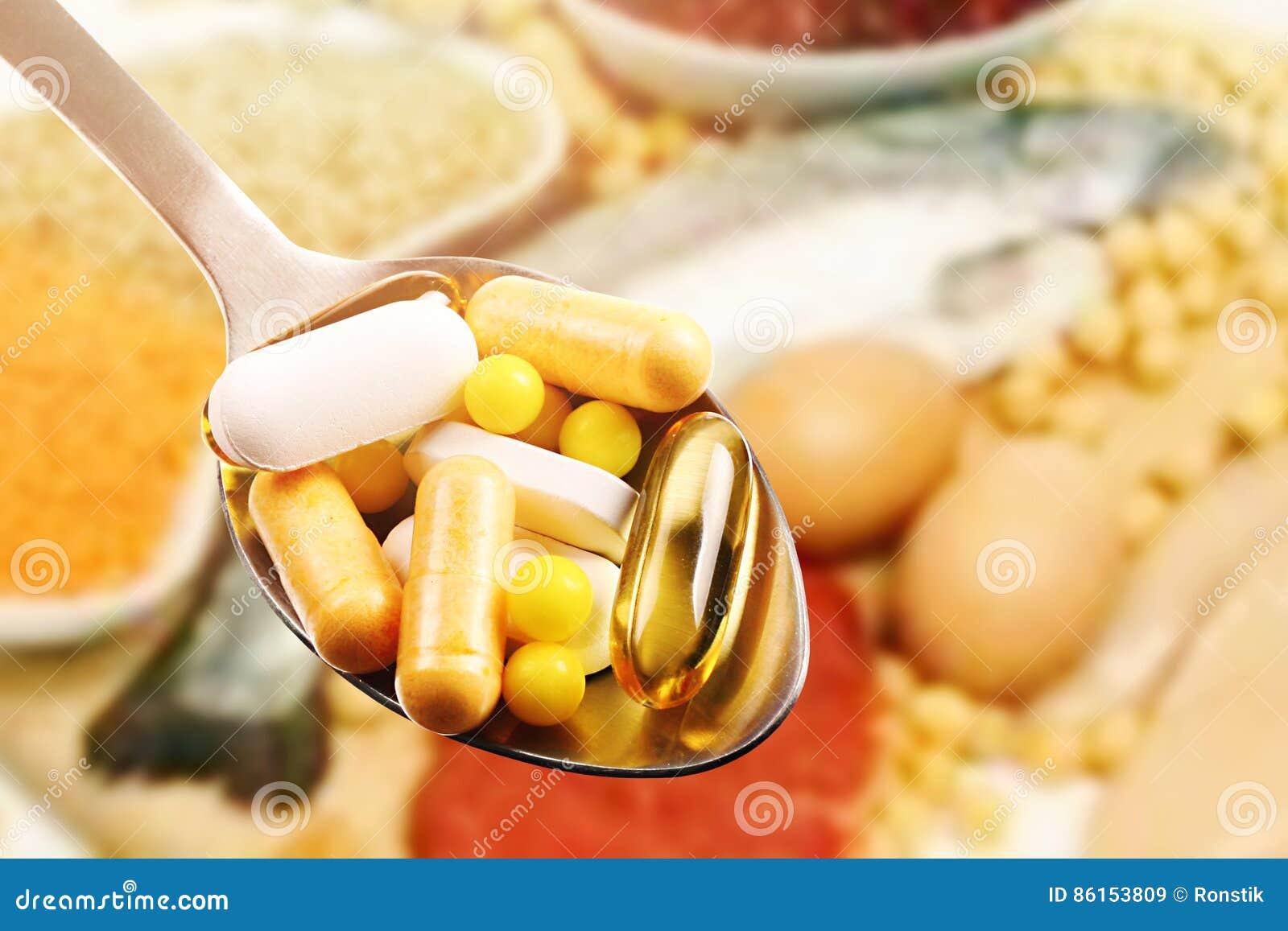 Dieetsupplementen op eiwitvoedselachtergrond