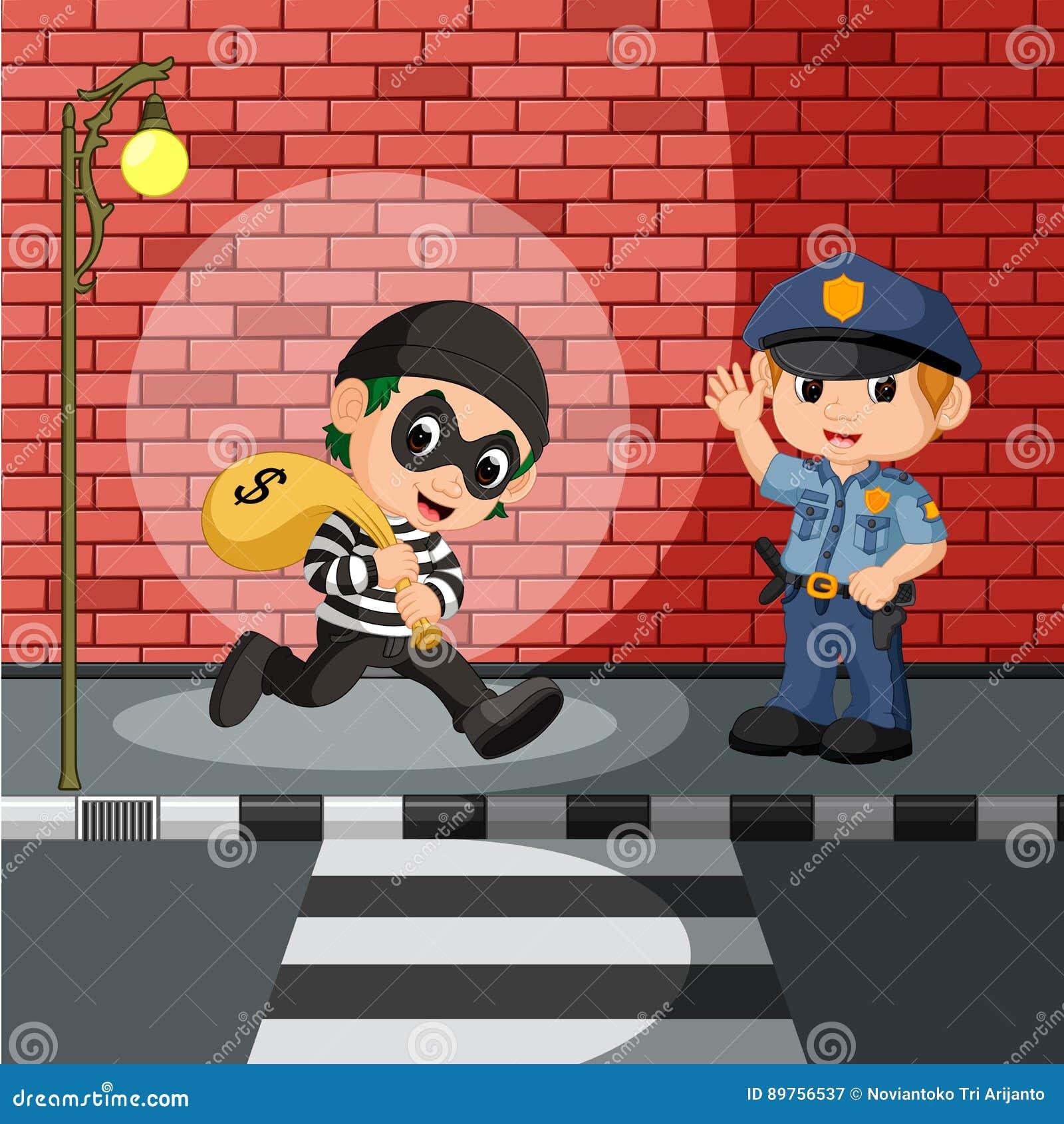 Dief en politiebeeldverhaal