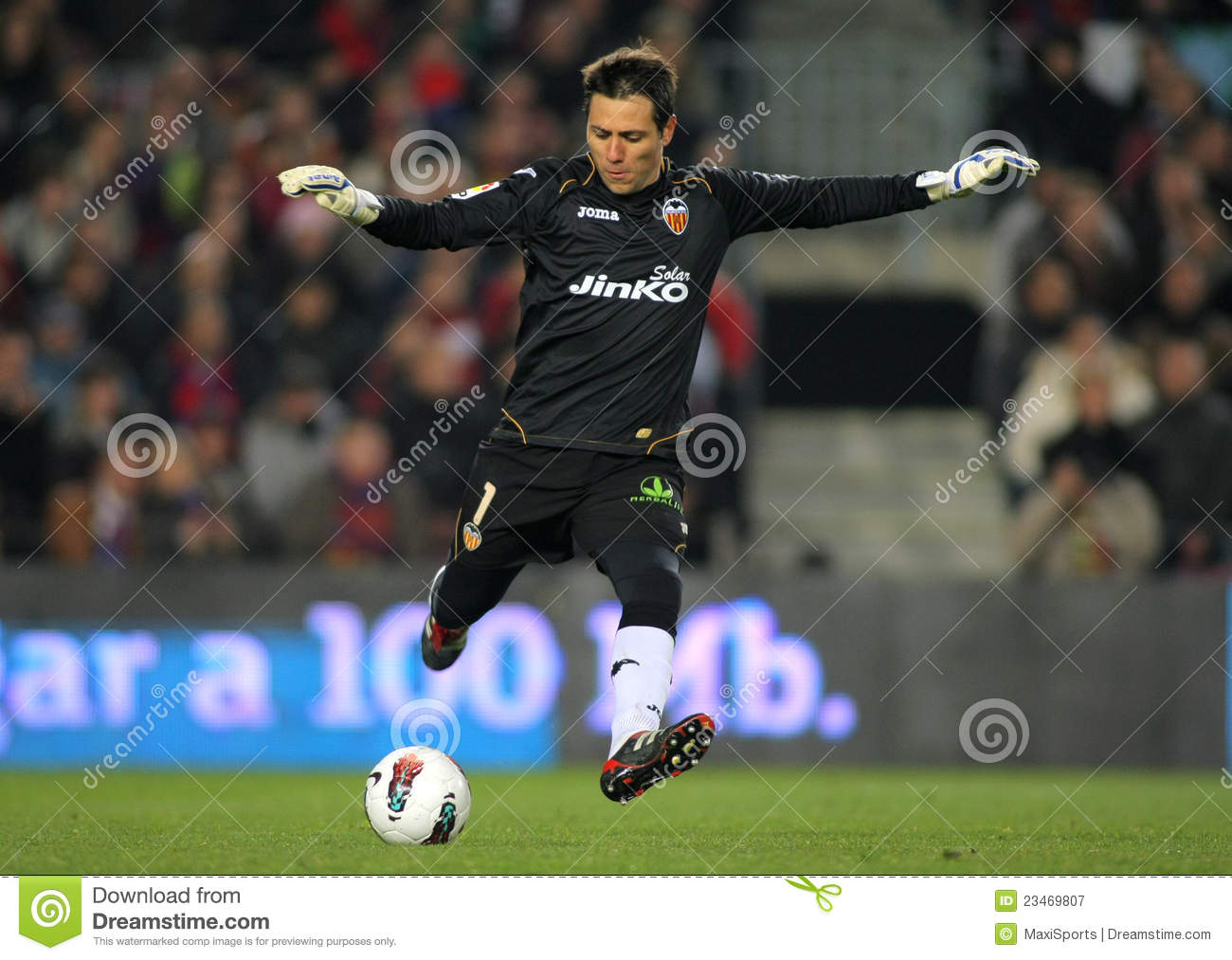 diego alves of valencia cf editorial photography