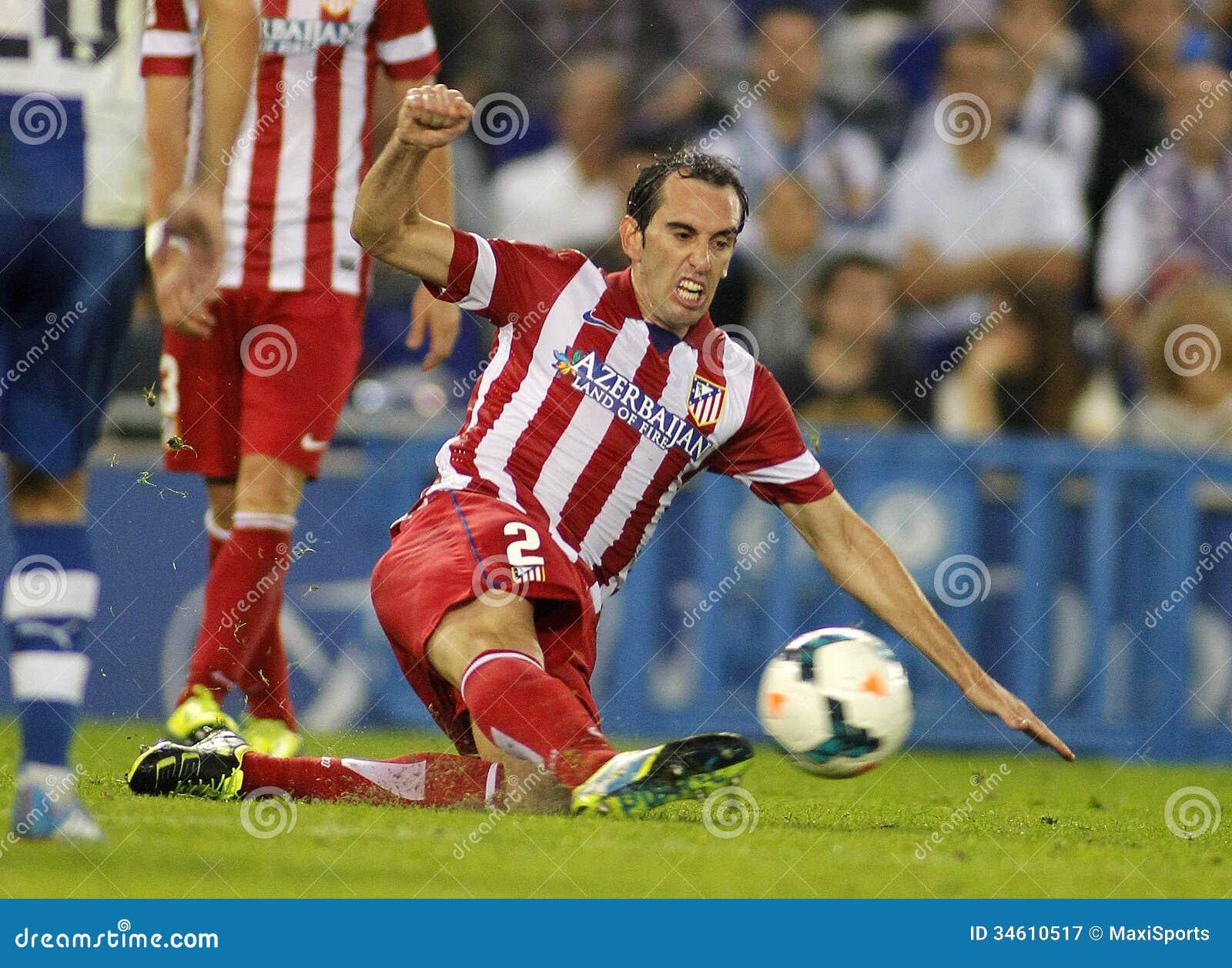 Diego Godin Atletico De Madrid Editorial graphy Image