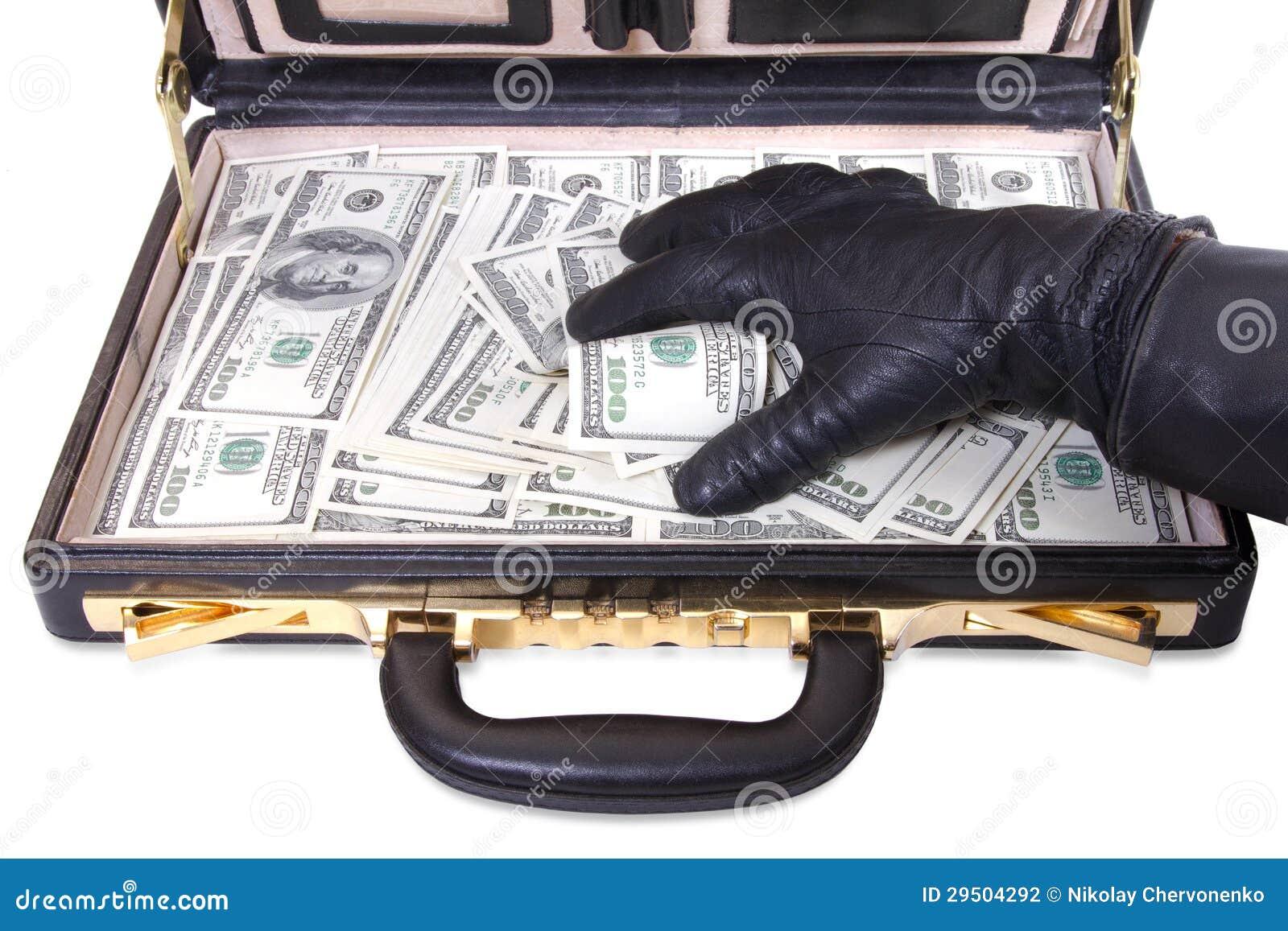 Dien een handschoen in neemt geld