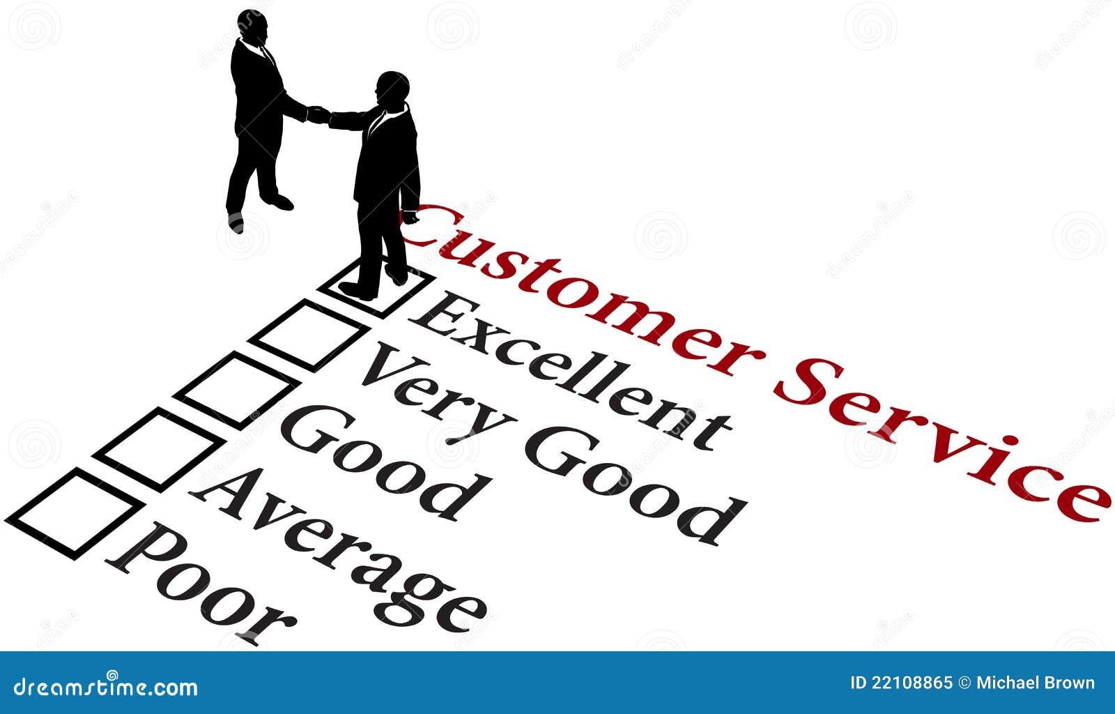 Dienst van de bedrijfsverhoudings de uitstekende klant