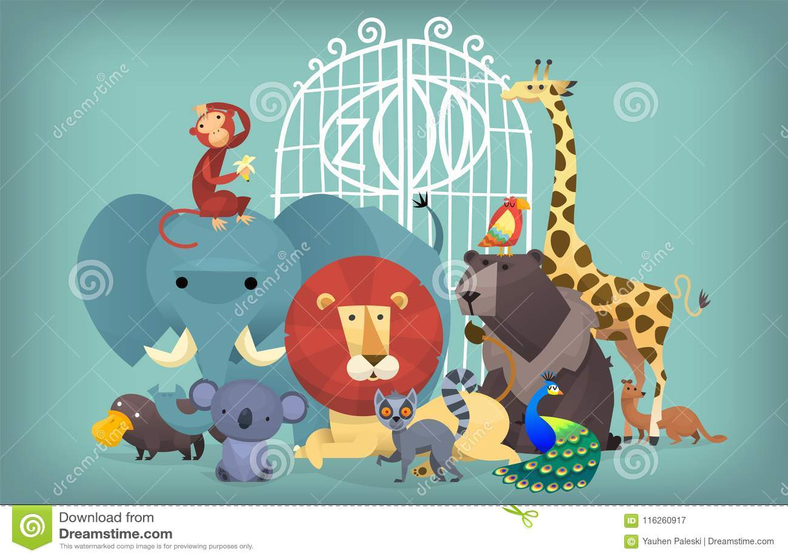 Dieren bij de dierentuin