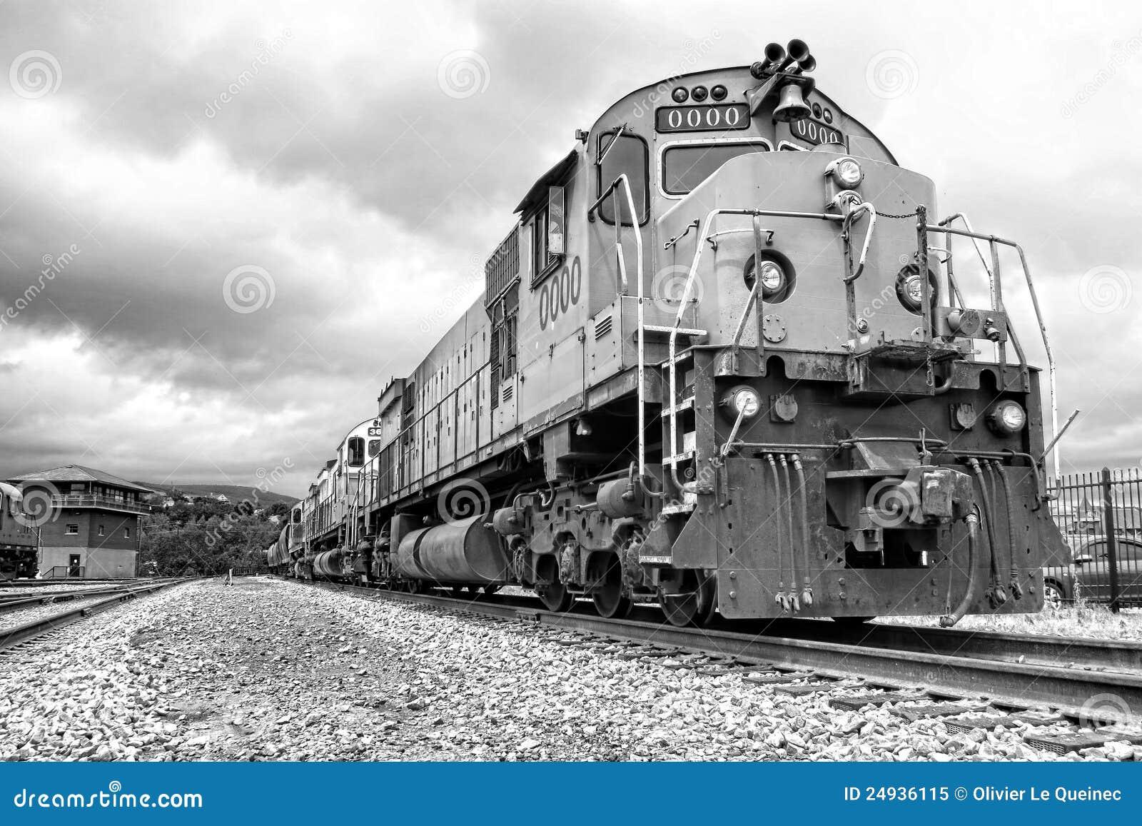 Diesel Electric Freight Train Engine Locomotives Stock