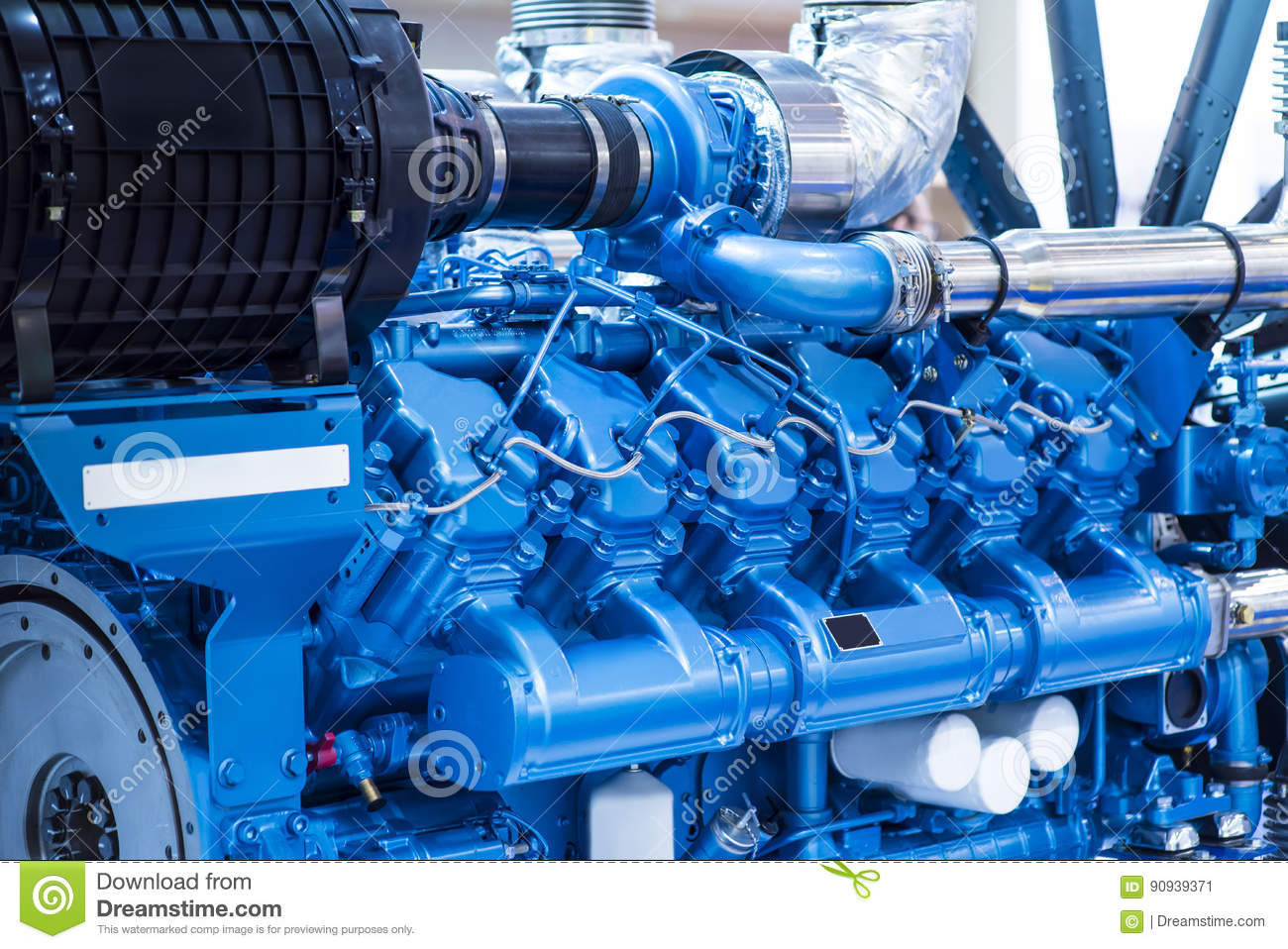 Diesel engine for boat stock image  Image of manufacturing - 90939371