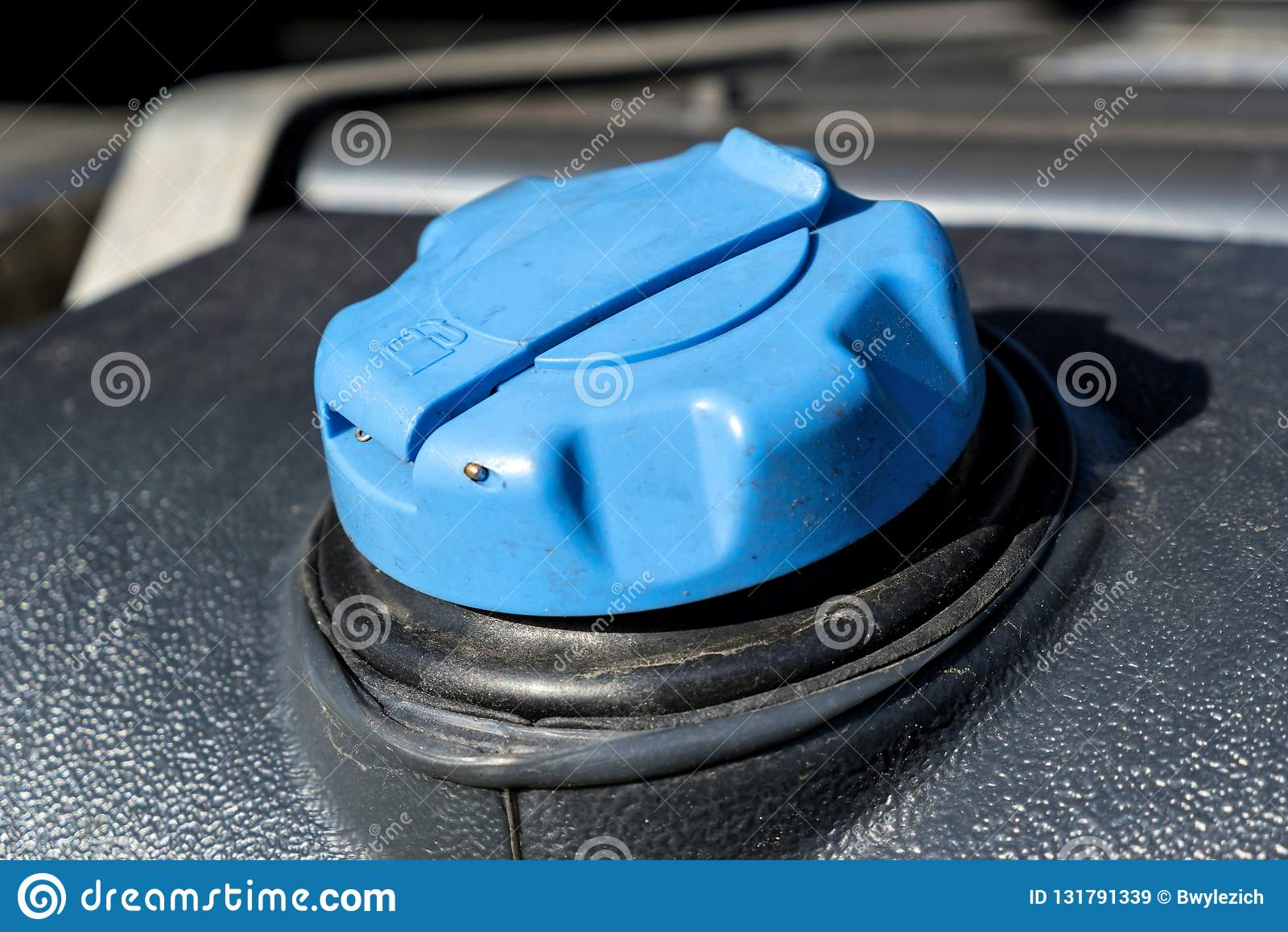 Diesel exhaust fluid tank stock image  Image of petroleum